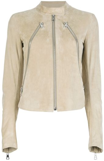 Maison Martin Margiela Three Zip Leather Lambskin Jacket - Lyst