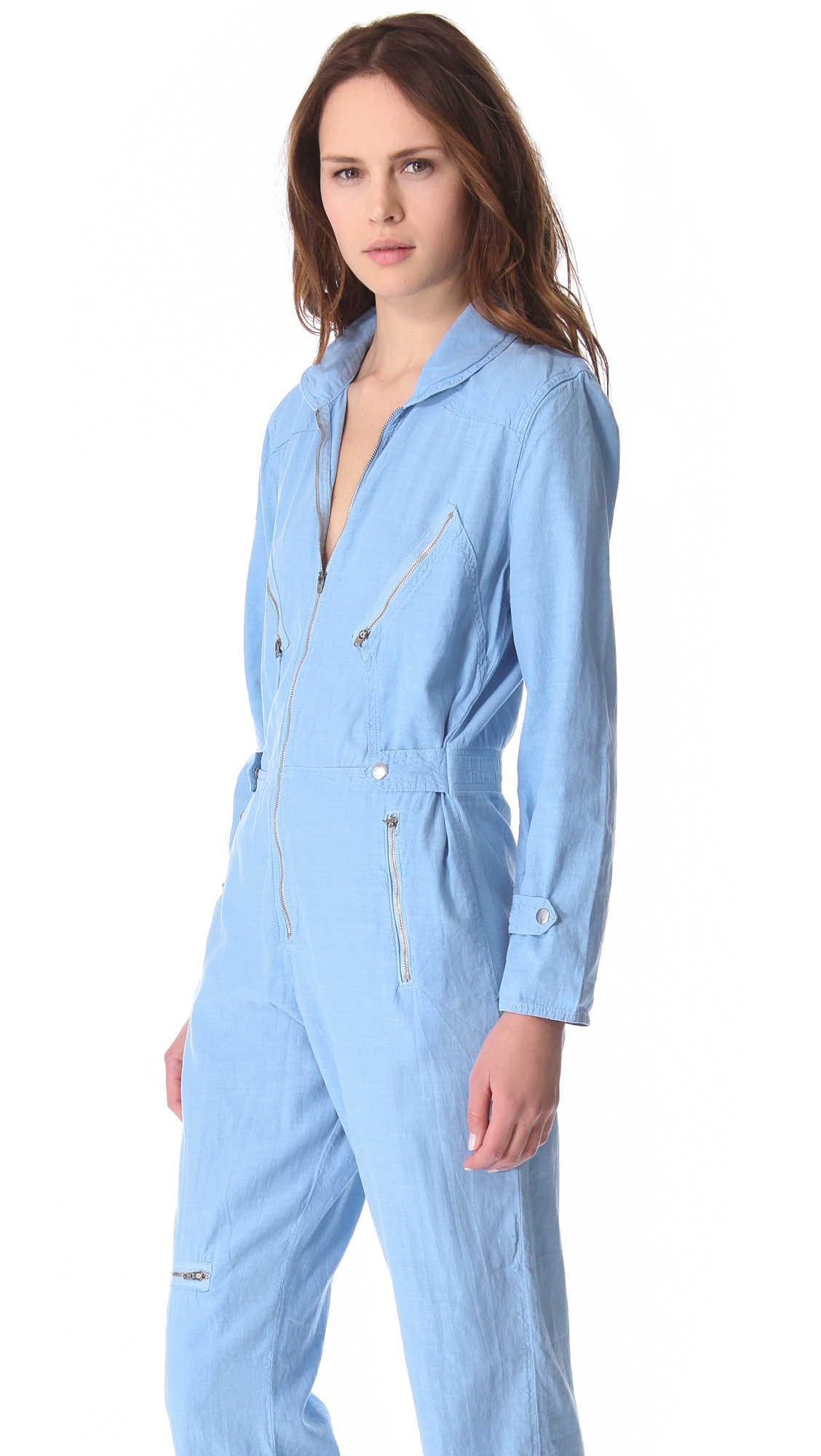 lyst m i h jeans boiler jumpsuit in blue. Black Bedroom Furniture Sets. Home Design Ideas