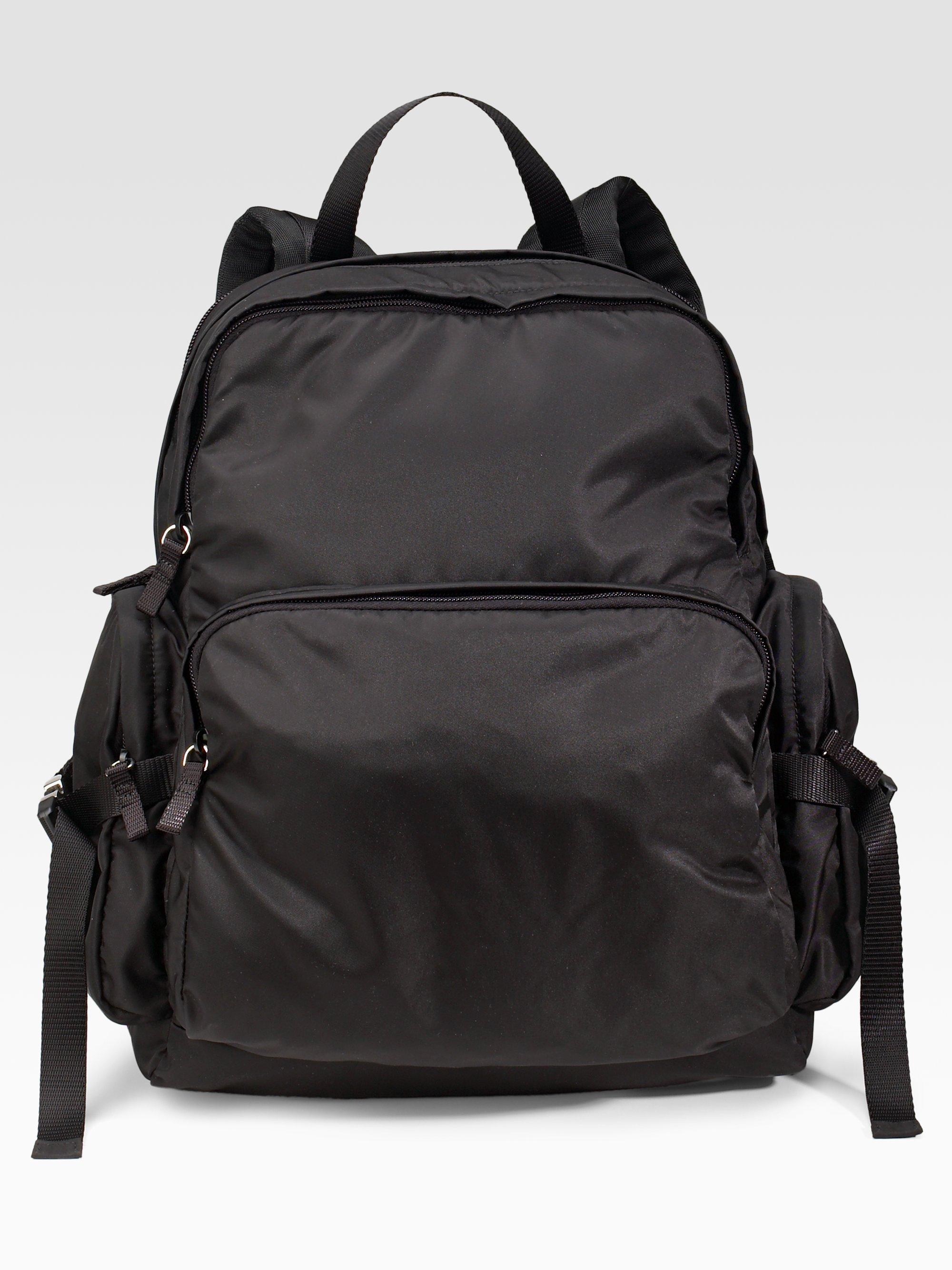 ... reduced lyst prada woven nylon backpack in black for men 82562 c87ca 4cd507695ad18