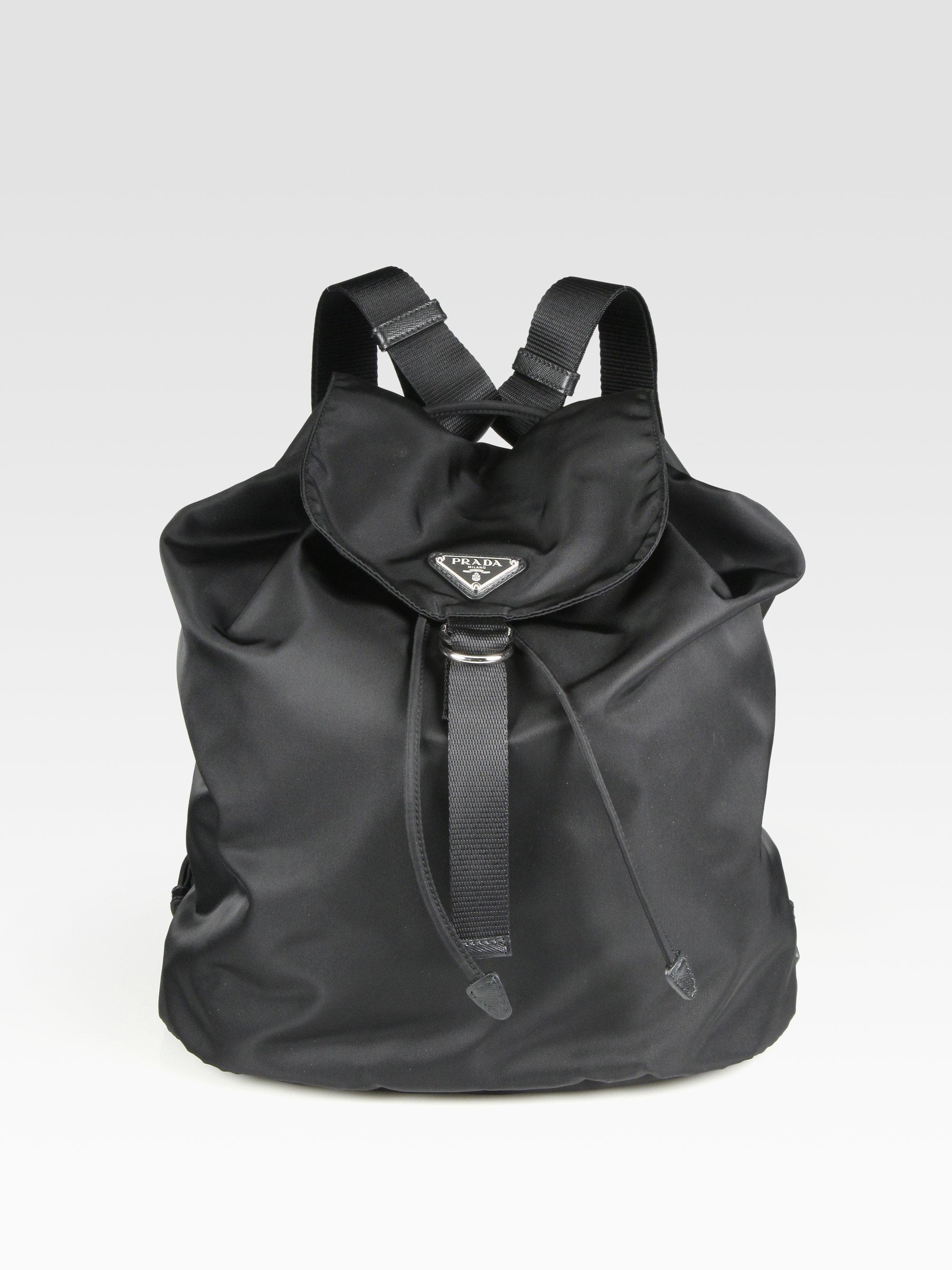Prada Zaino Nylon Backpack in Black for Men | Lyst
