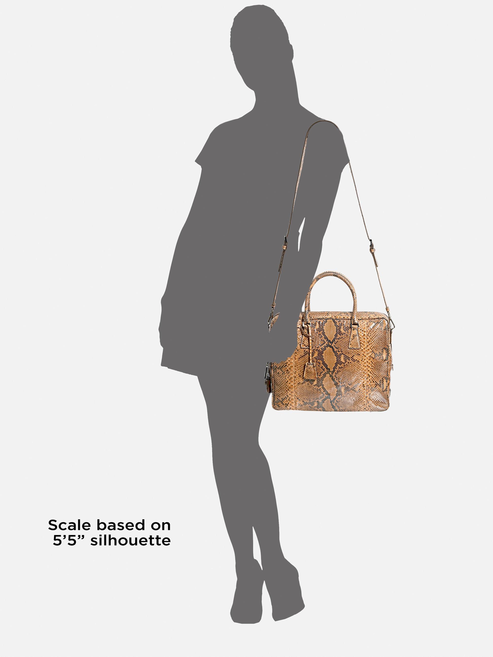 prada python handle bag