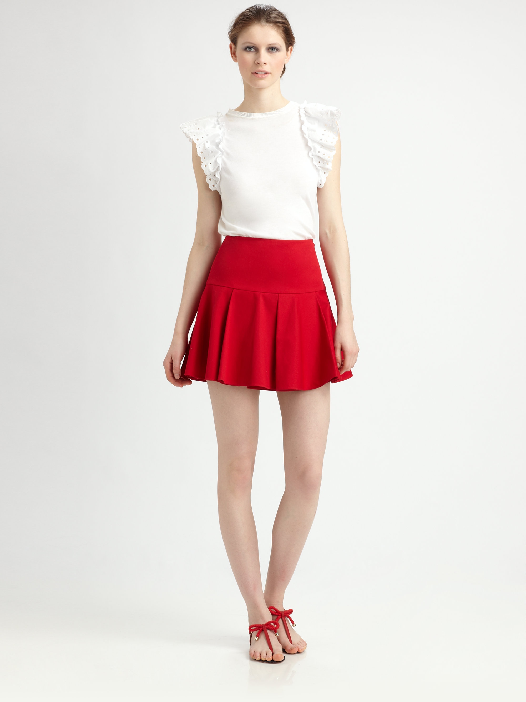 Red Mini Skirt | Jill Dress