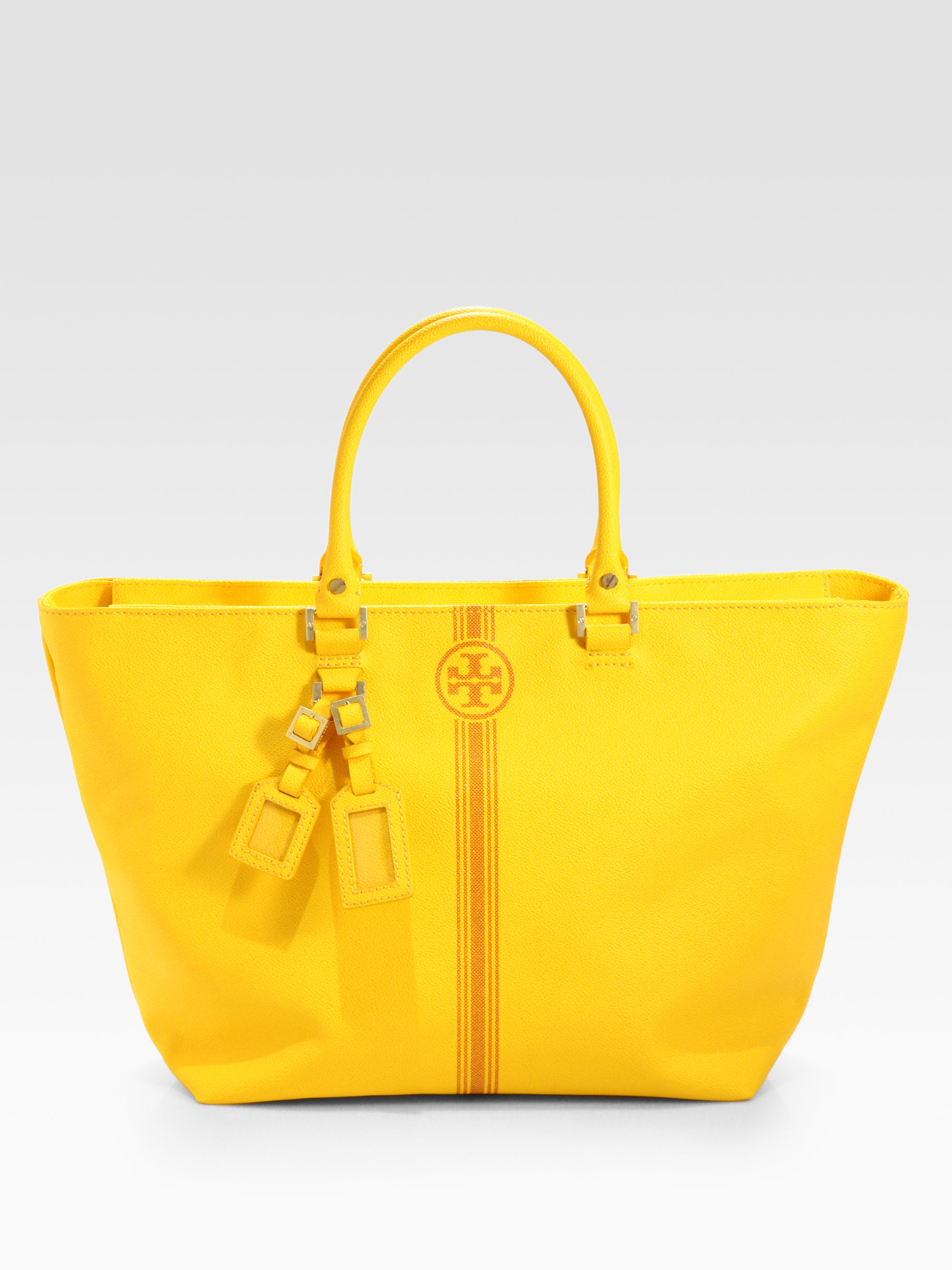 9d9a7a67f3fe Lyst - Tory Burch Roslyn Tote Bag in Yellow