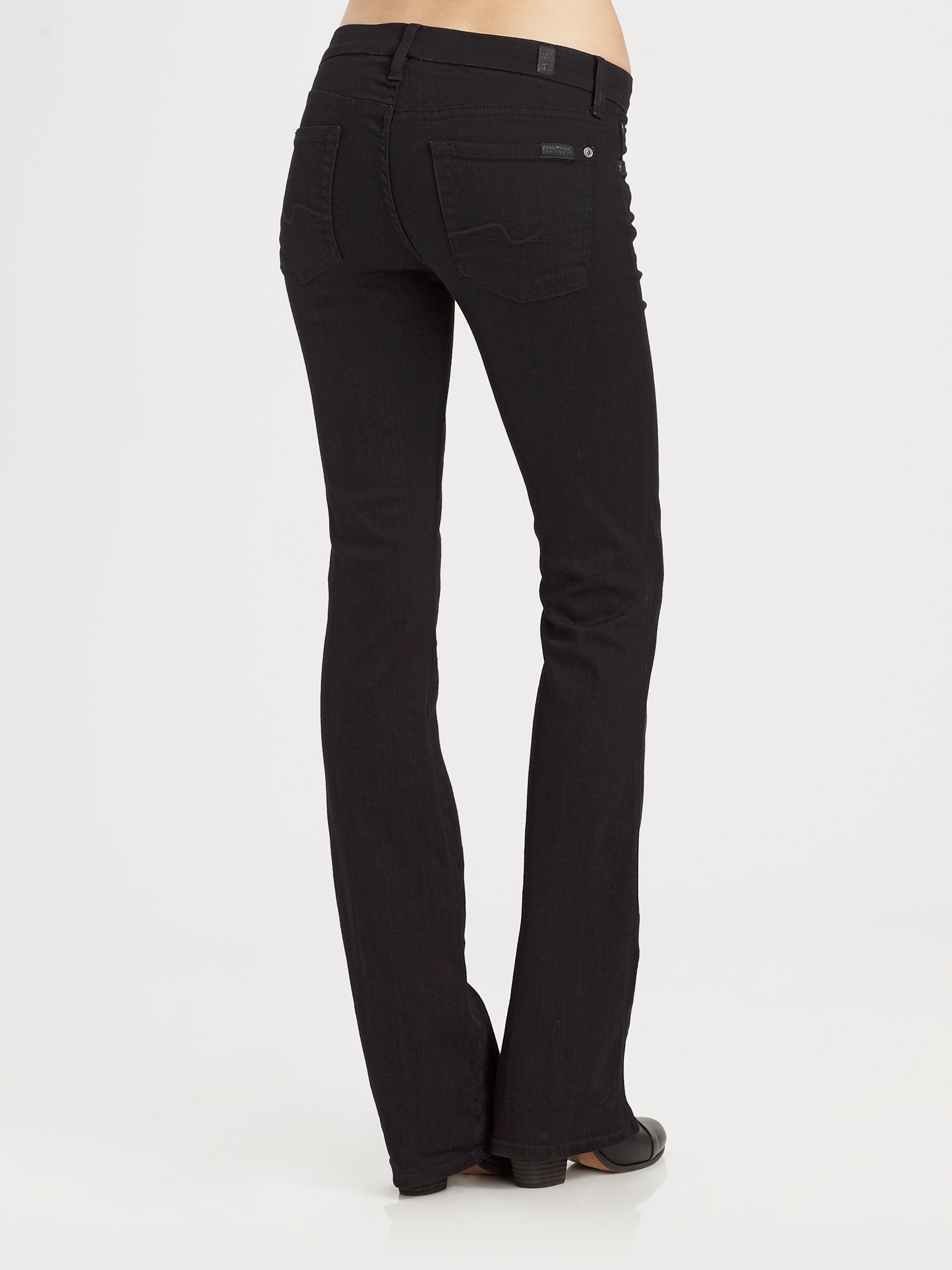 7 for all mankind Kimmie Bootcut Jeans in Black | Lyst