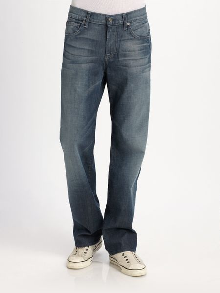 7 For All Mankind Austyn Simon Lake Straight-leg Jeans in Blue for Men (black)