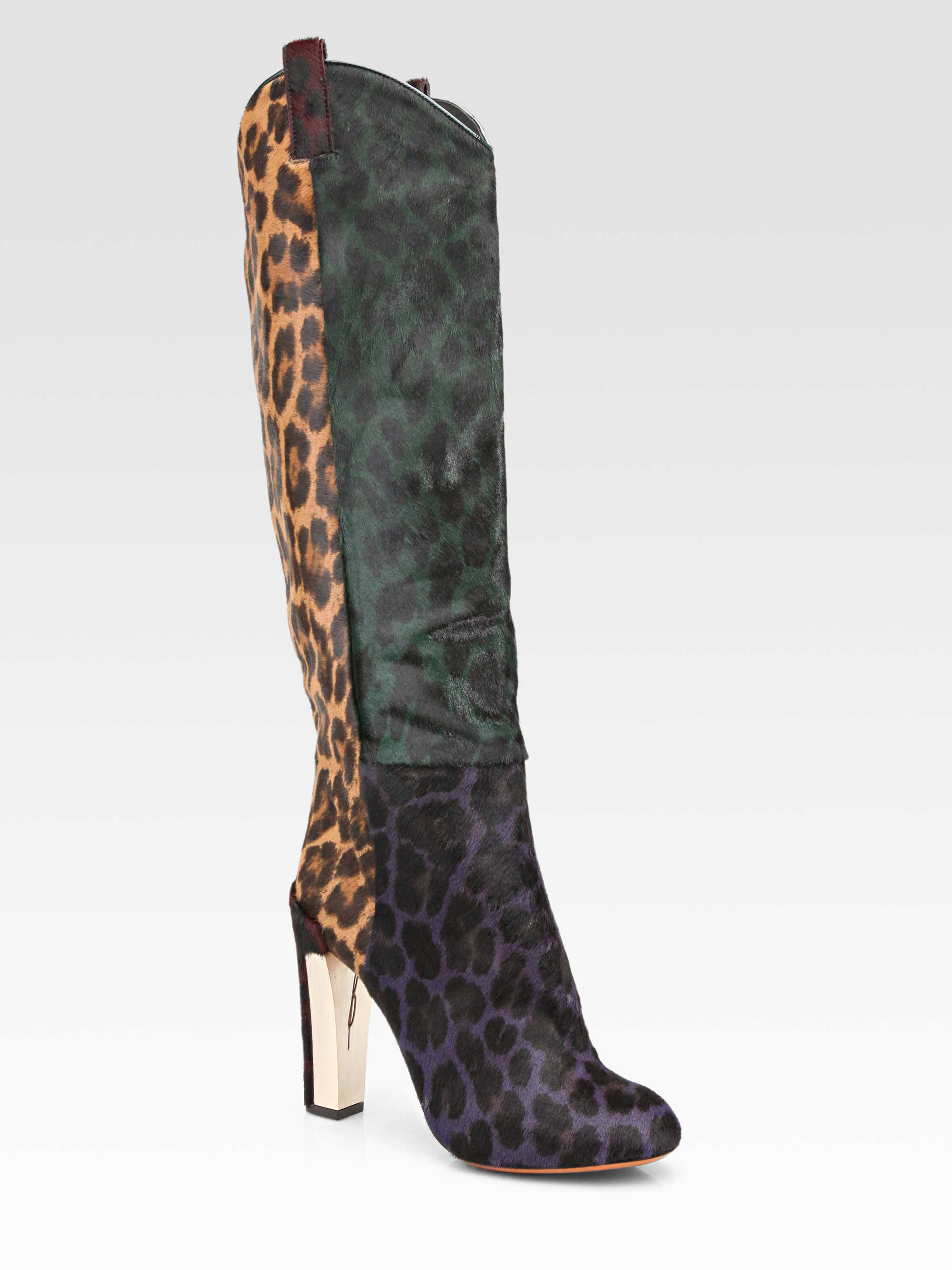 Lyst B Brian Atwood Paradis Leopard Print Calf Hair Knee