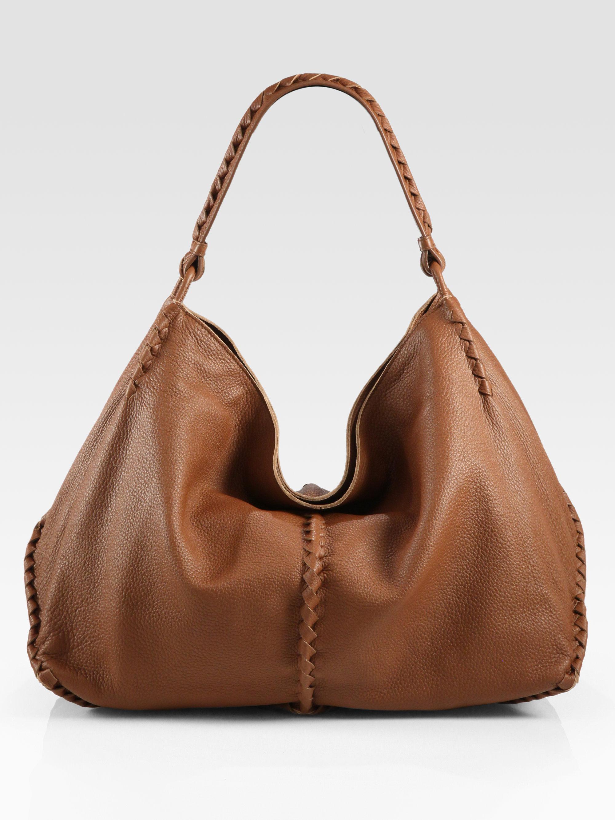 4120472cfe Bottega Veneta Cervo Large Hobo Bag in Brown - Lyst