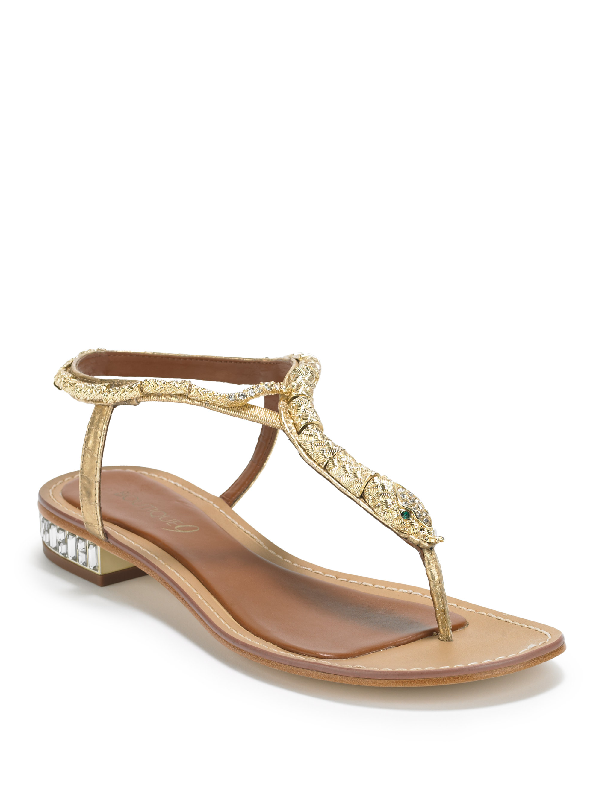 Lyst Boutique 9 Barbiera Snake Thong Sandals Gold In