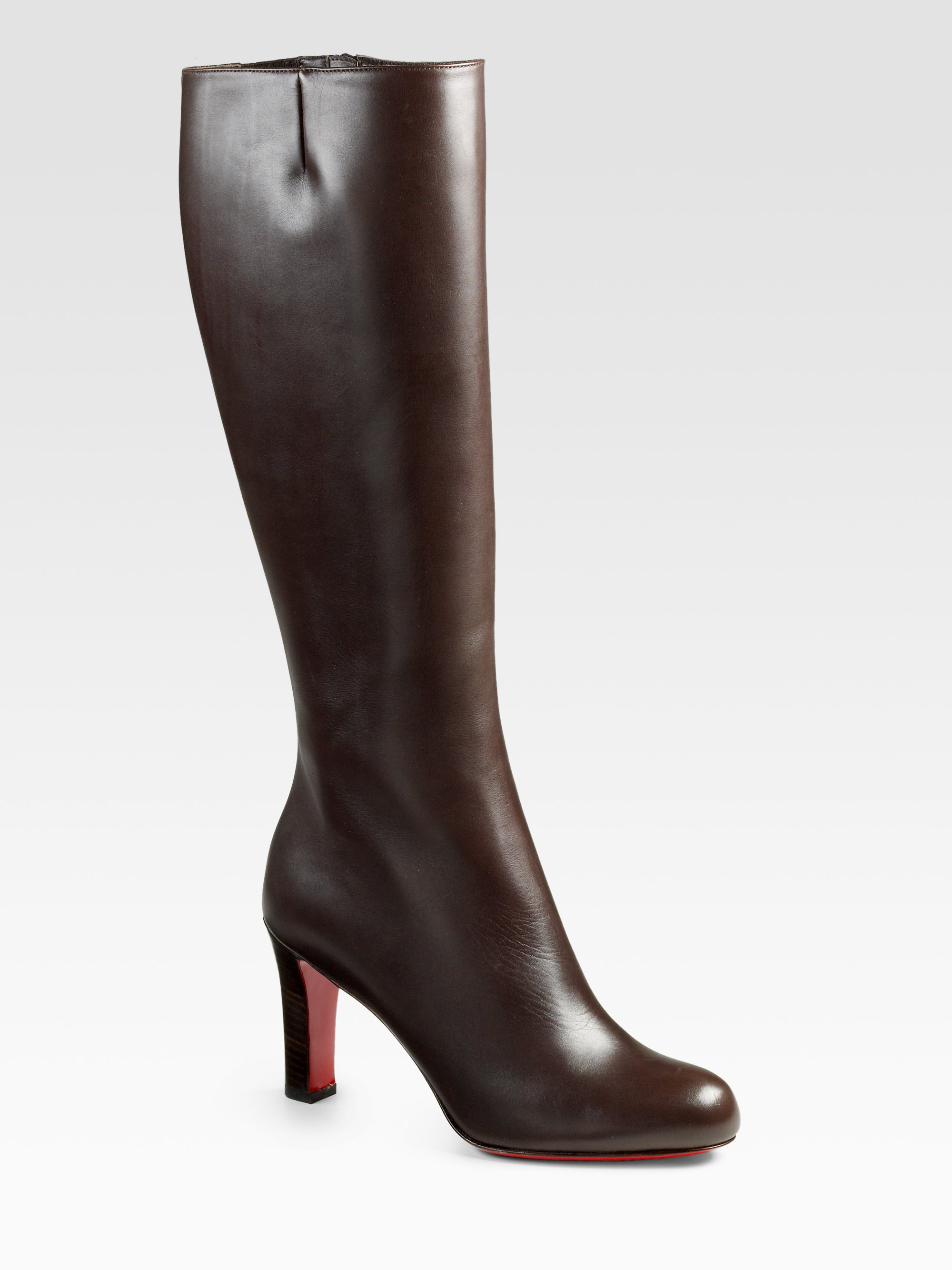 christian louboutin leather knee-high boots | The Little Arts Academy