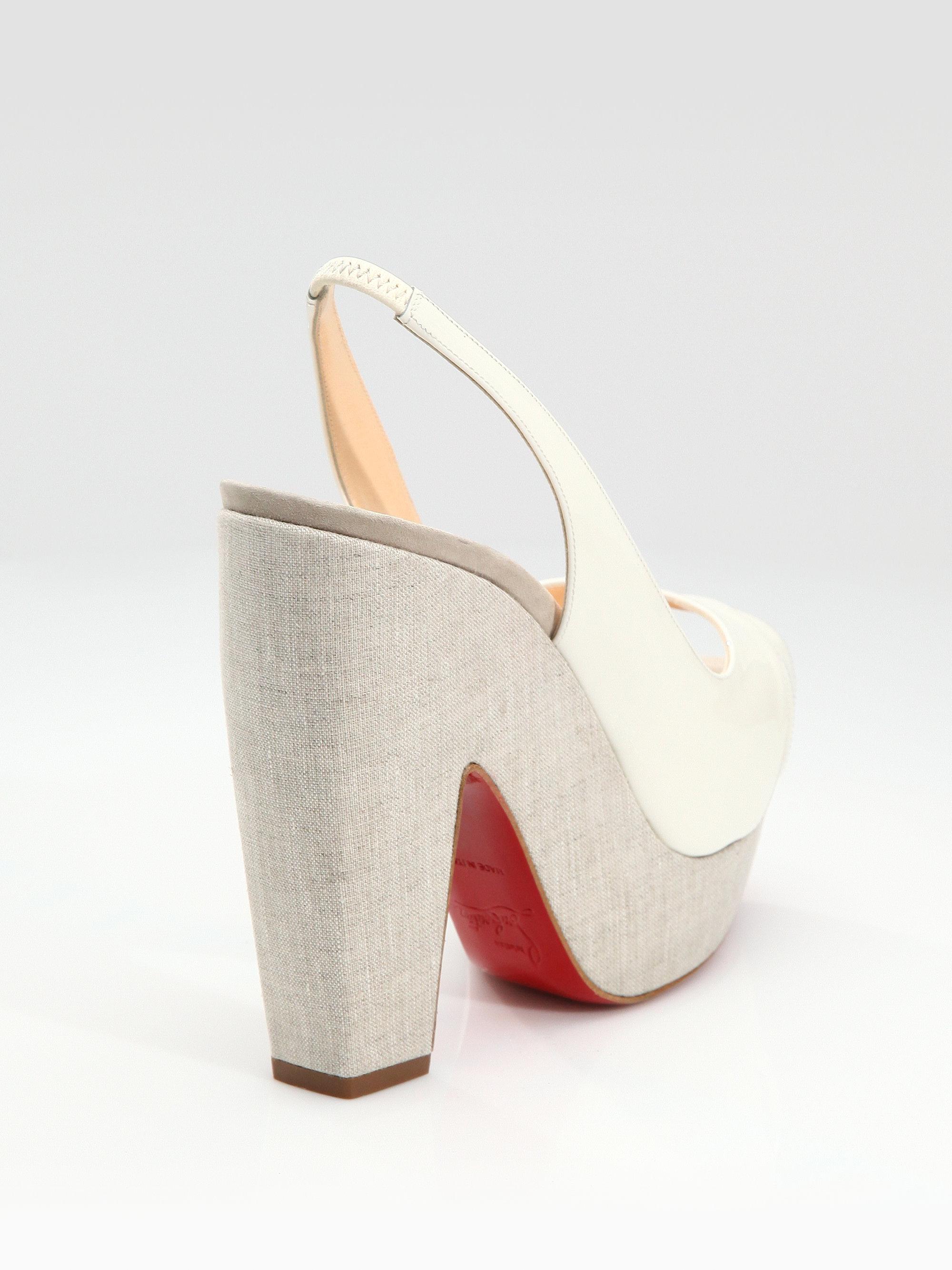 Artesur ? christian louboutin platform slingback sandals
