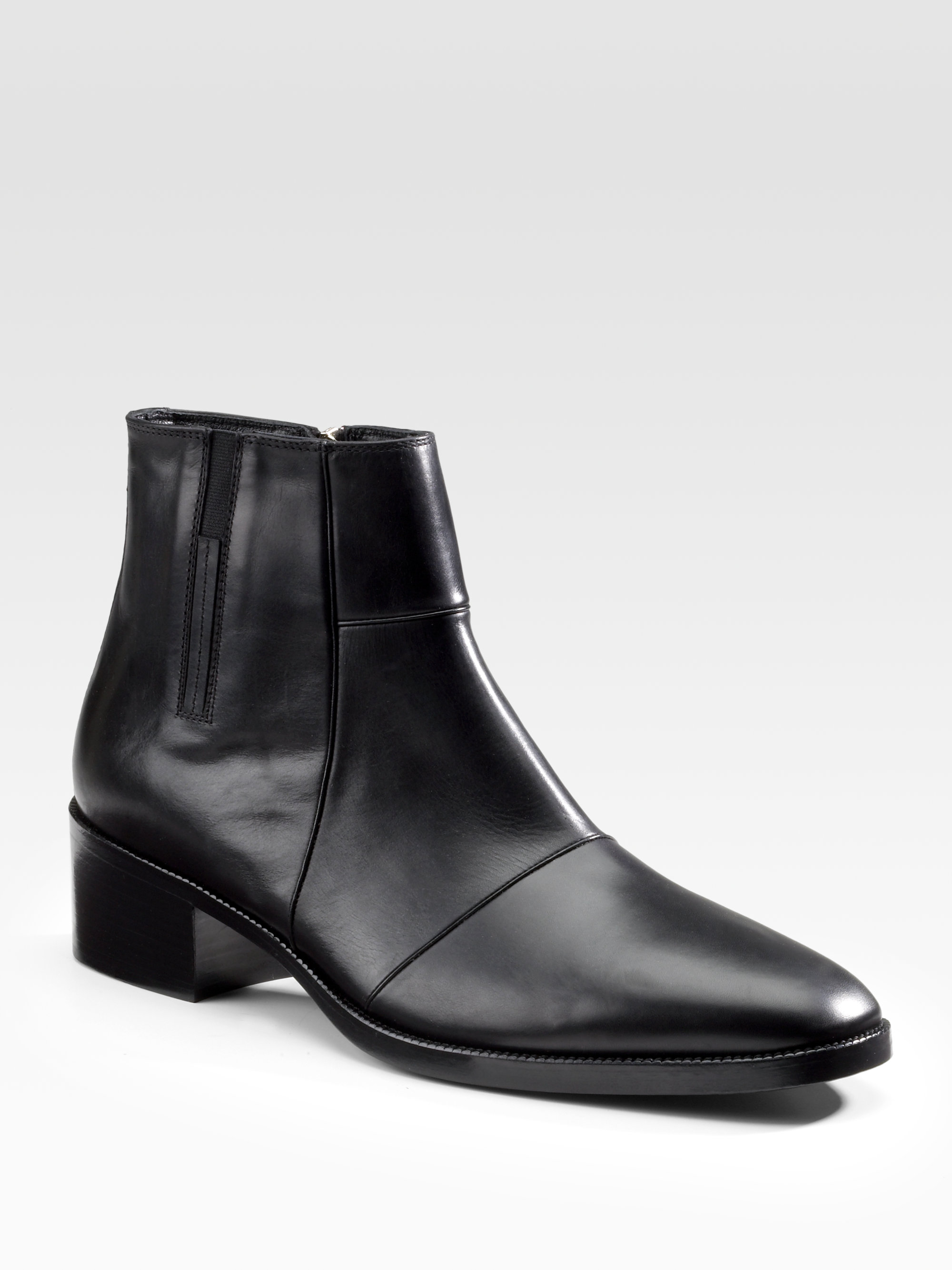 6ad33fc8f7b6 Lyst - Dior Homme Leather Boots in Black for Men