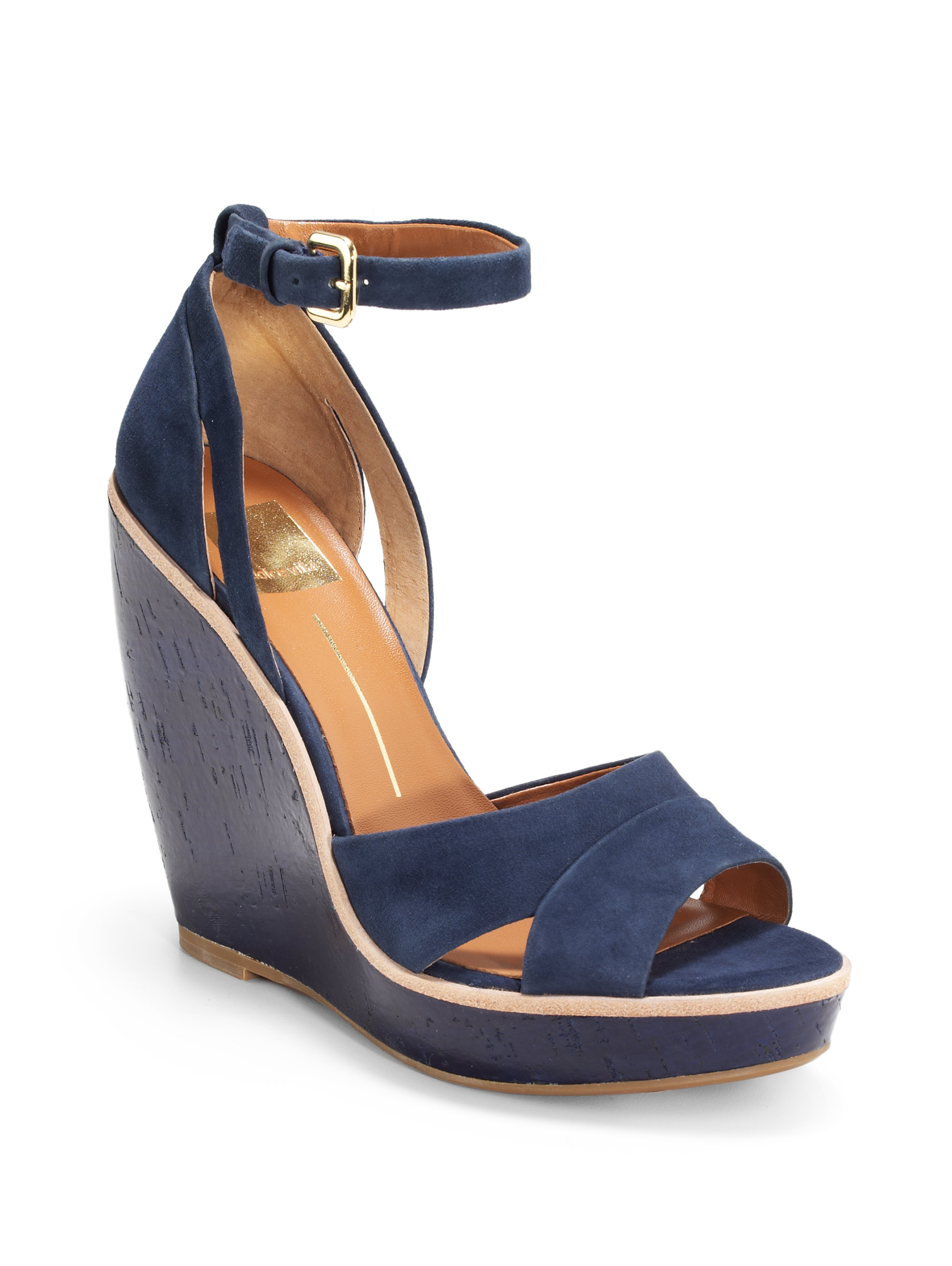 Dolce Vita Paiva Ankle Strap Wedge Sandals in Blue (navy ...