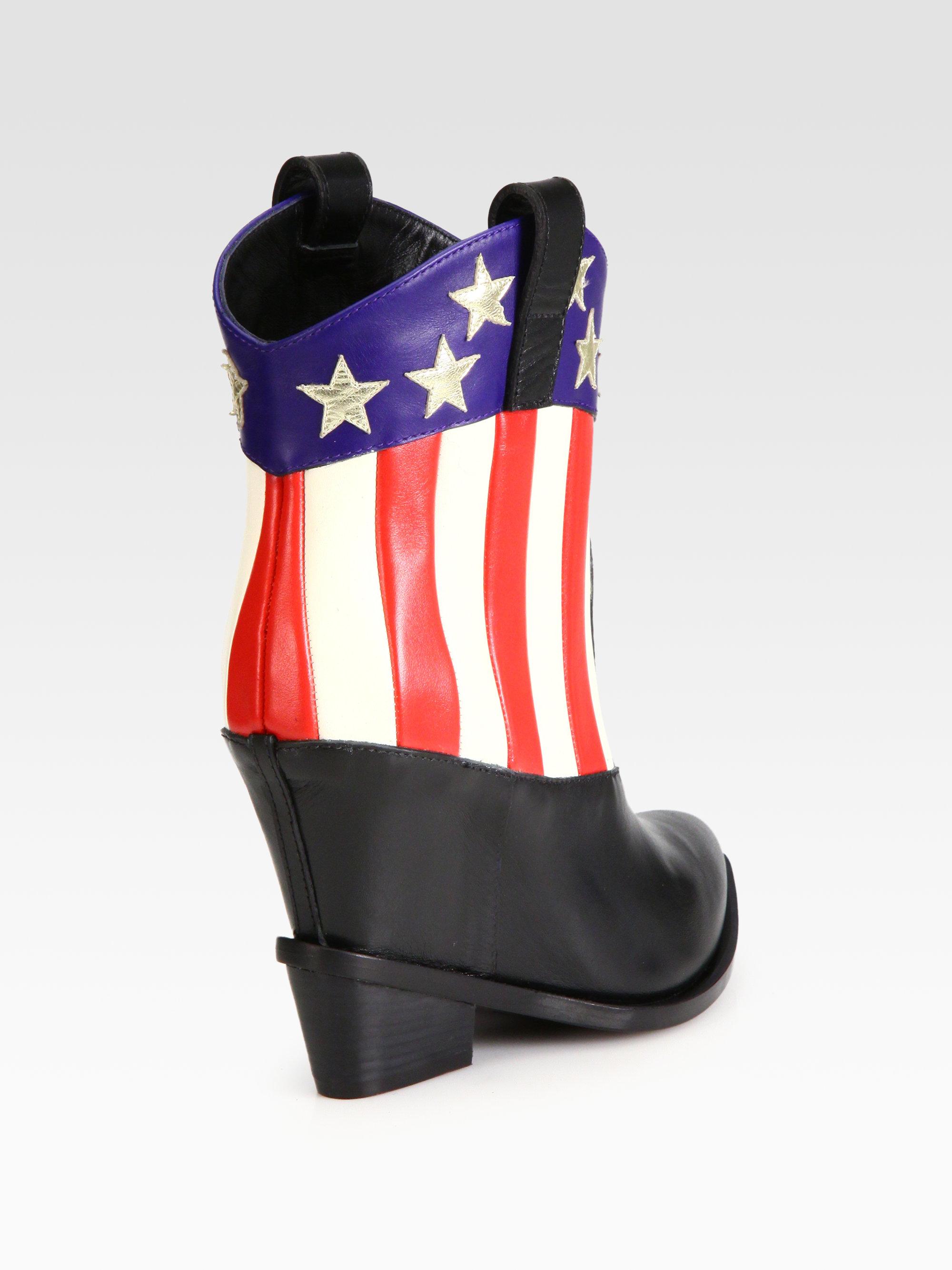 giuseppe zanotti leather wedge cowboy boots