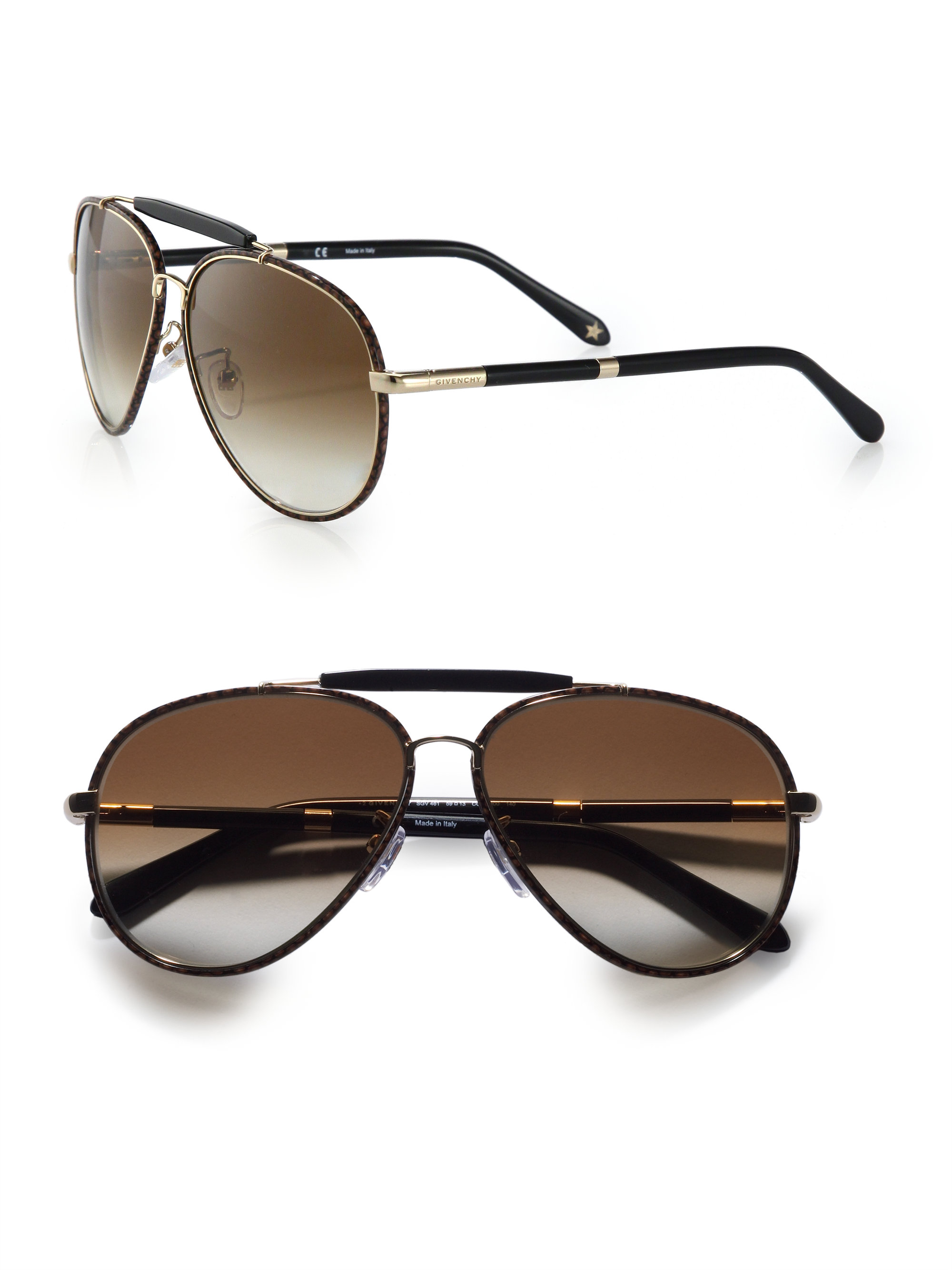 1316985ed0c Lyst - Givenchy Metal Aviator Sunglasses in Brown for Men