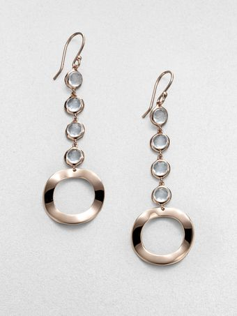 Ippolita Rosé Lollipop and Wavy Disc Clear Quartz Earrings - Lyst