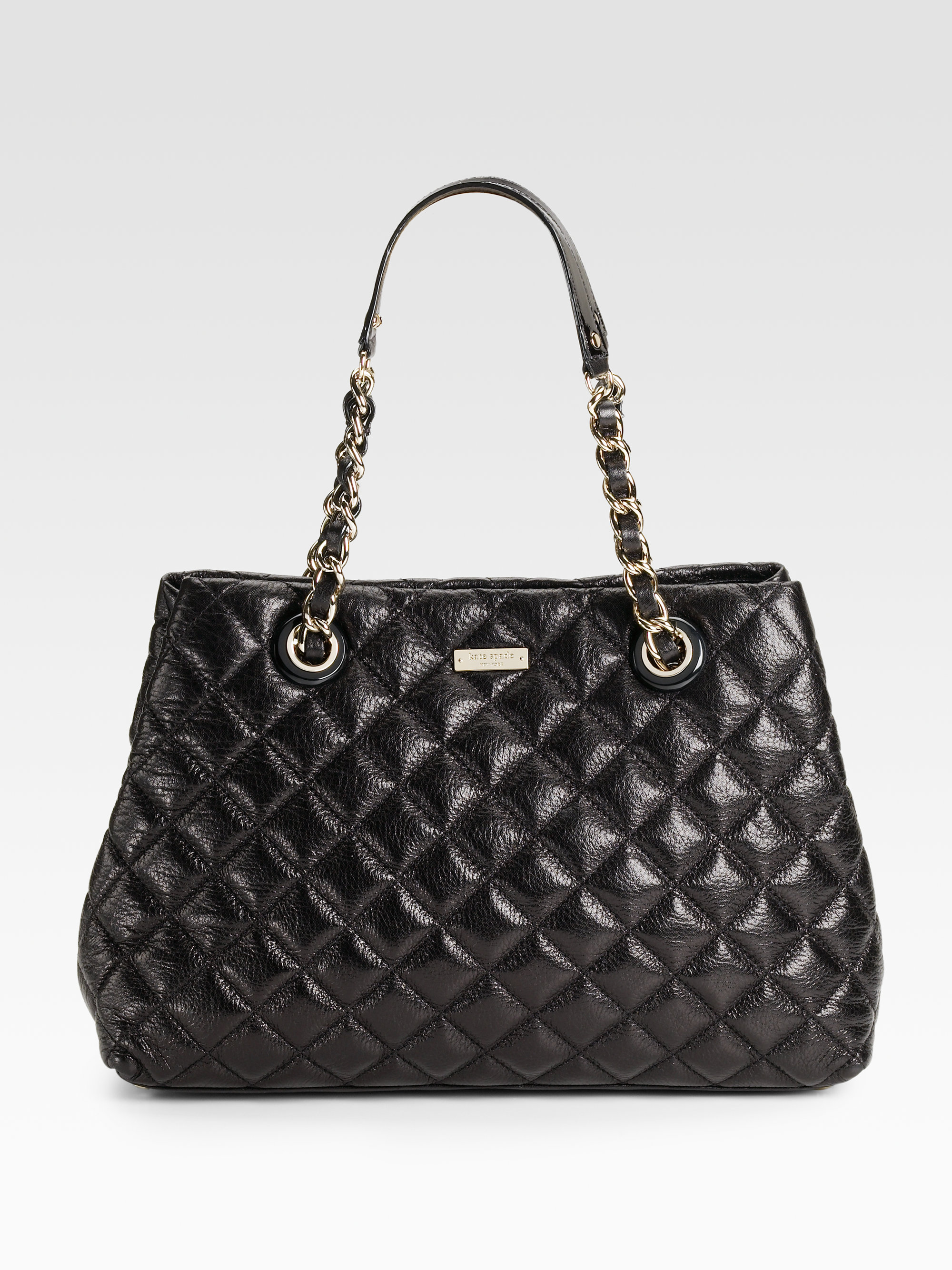 Kate Spade Mary Anne Quilted Leather Shoulder Bag In Black
