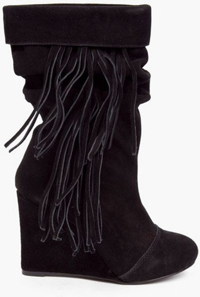 Kelsi Dagger Carousel Fringe Boots in Black