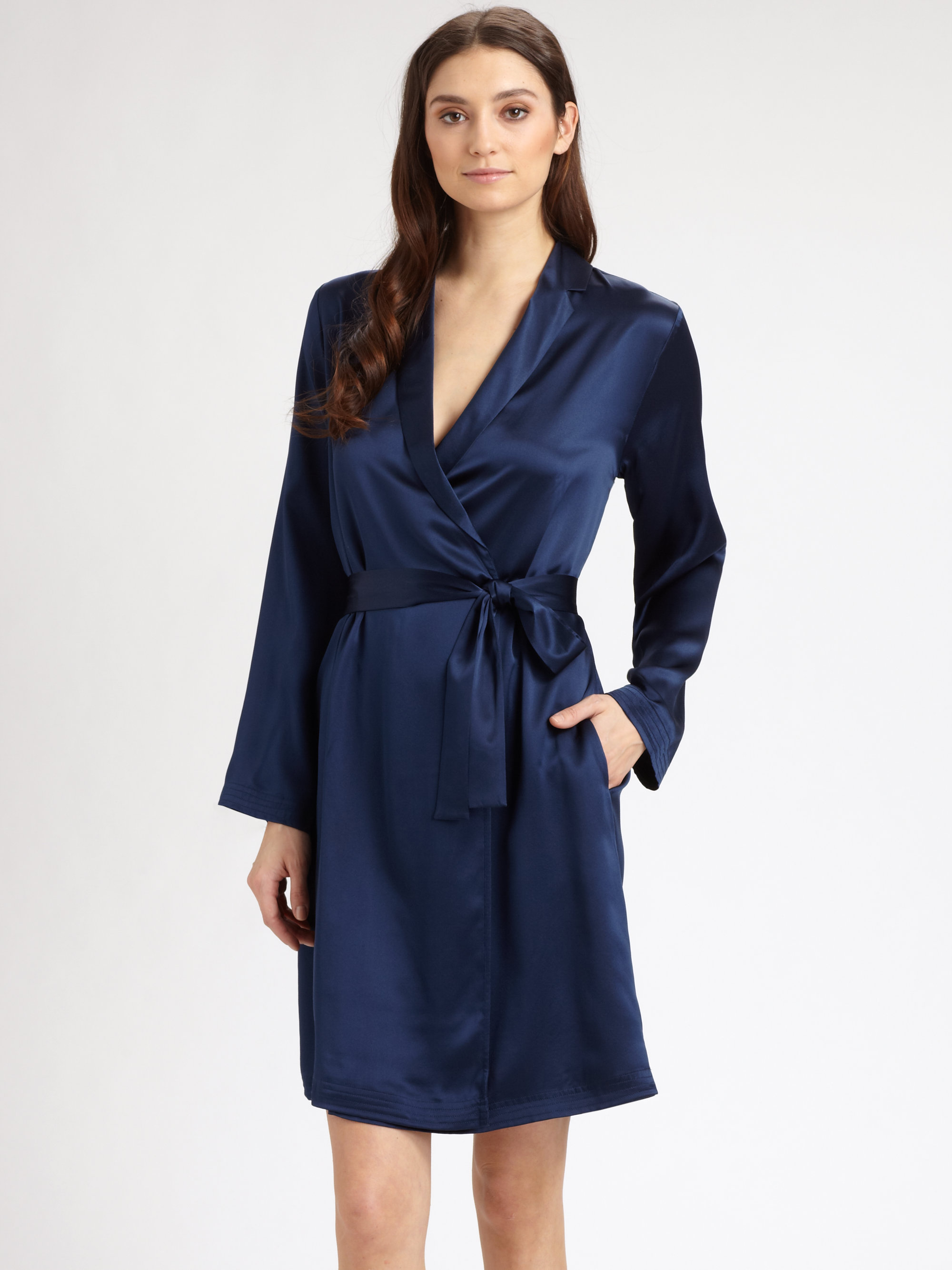 fc7dd41fb3 Gallery. Previously sold at  Saks Fifth Avenue · Women s Equipment Avery  Women s Fluffy Robes Women s Silk ...
