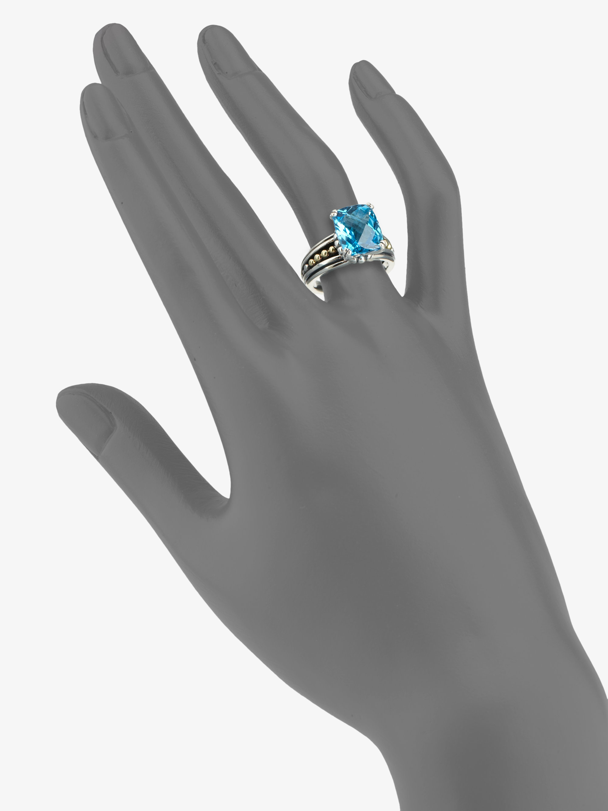 100 [ Silver Rings With Blue Topaz ]