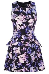 McQ by Alexander McQueen Floral Peplum Dress