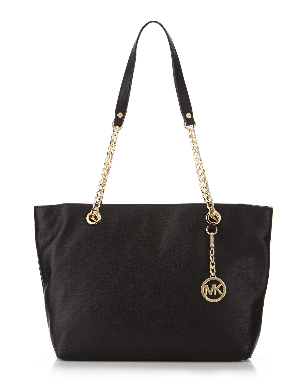 michael michael kors large jet set chain tote in black lyst. Black Bedroom Furniture Sets. Home Design Ideas