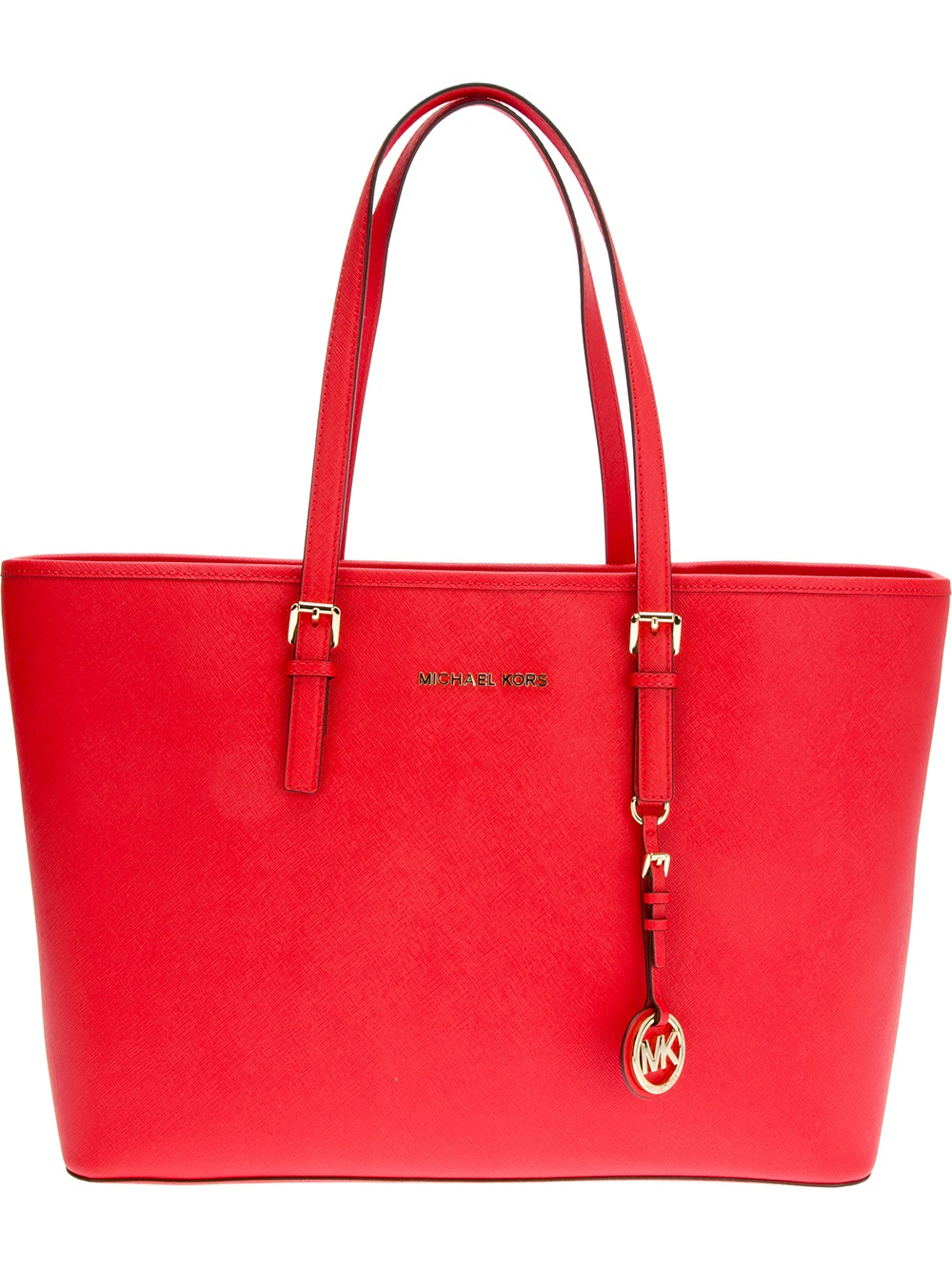 michael michael kors jet set shopper tote in red lyst. Black Bedroom Furniture Sets. Home Design Ideas