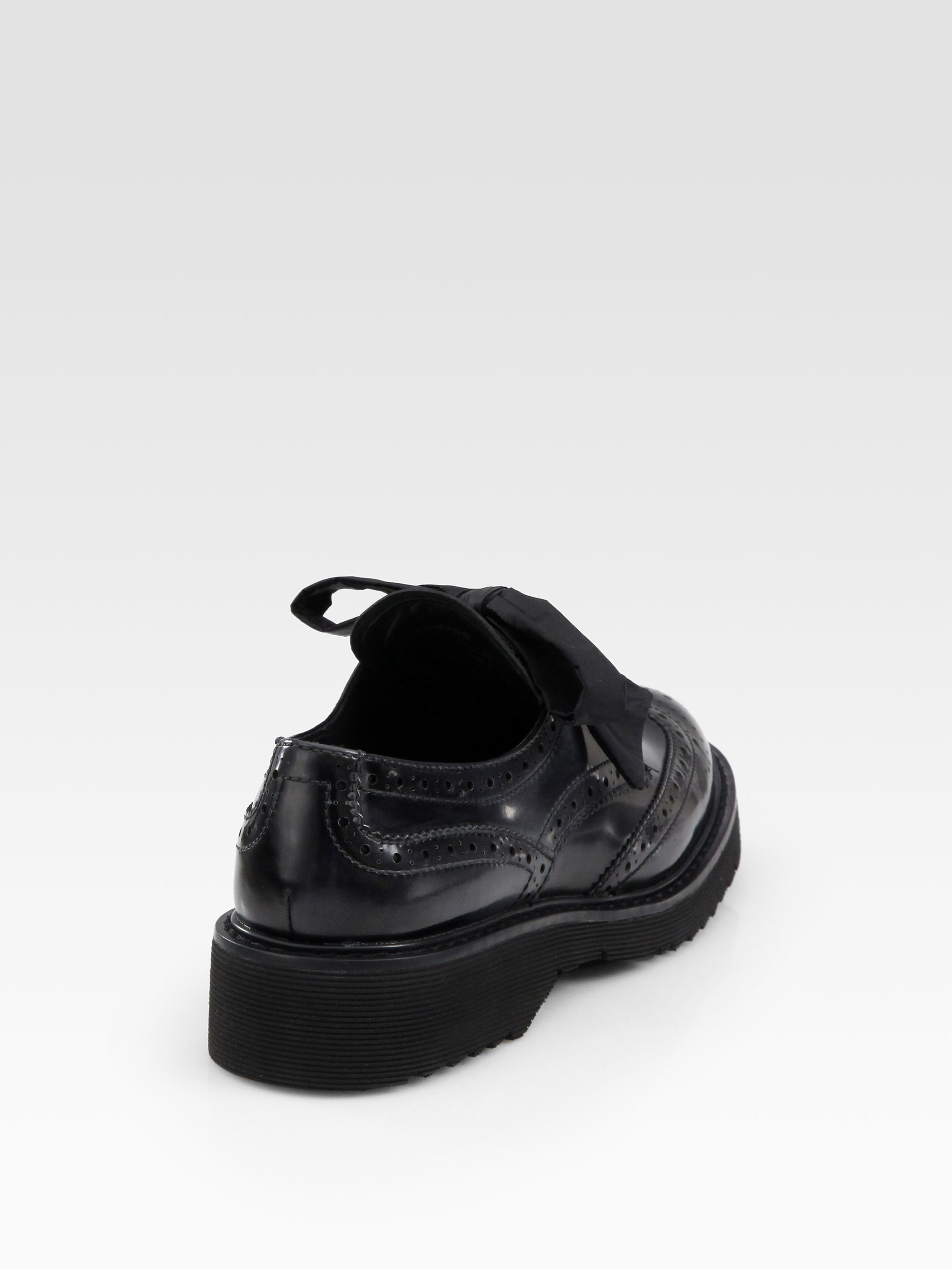 authentic prada handbags online - Prada Spazzolato Lace-up Wing Tip Oxfords in Black (anthracite) | Lyst