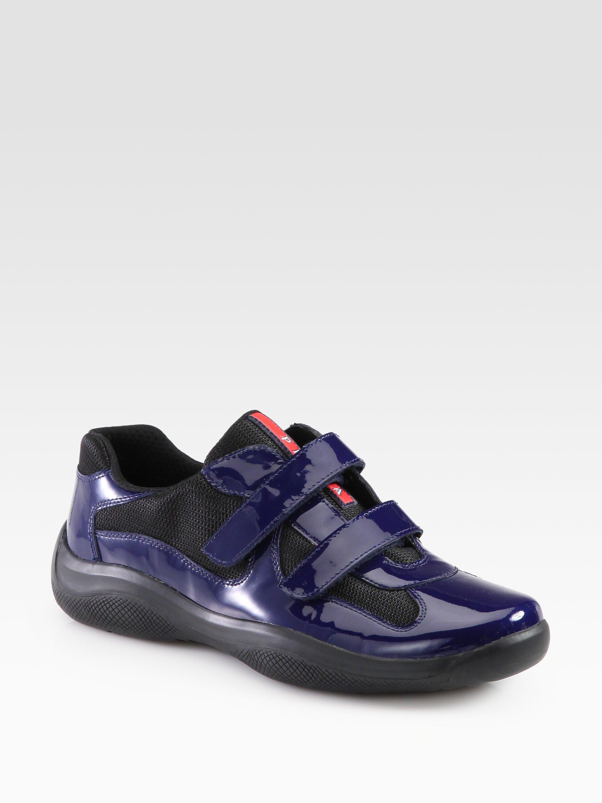 prada nylon tote with zipper - Prada Double Strap Sneakers in Blue for Men (royal black) | Lyst