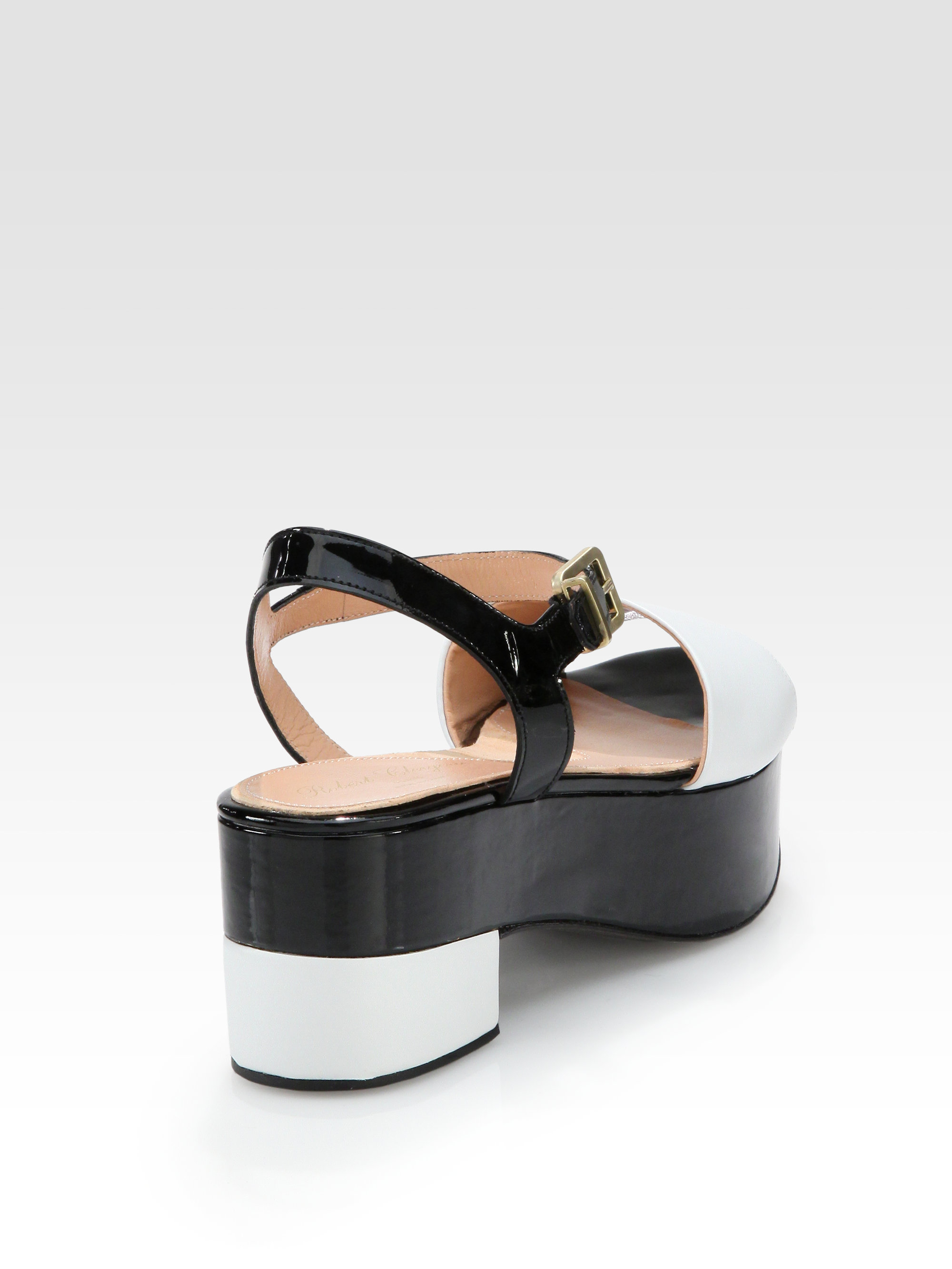 clearance get authentic outlet perfect Robert Clergerie Patent Leather Slingback Sandals deals cheap price manchester great sale online visa payment cheap price 6cF8cF5av