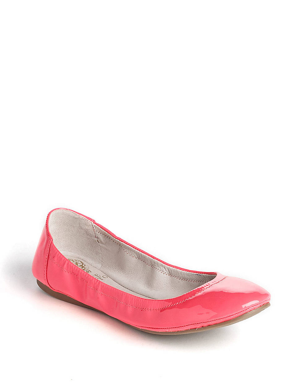 Vince Camuto Ellen Patent Leather Flats In Pink Coral Lyst