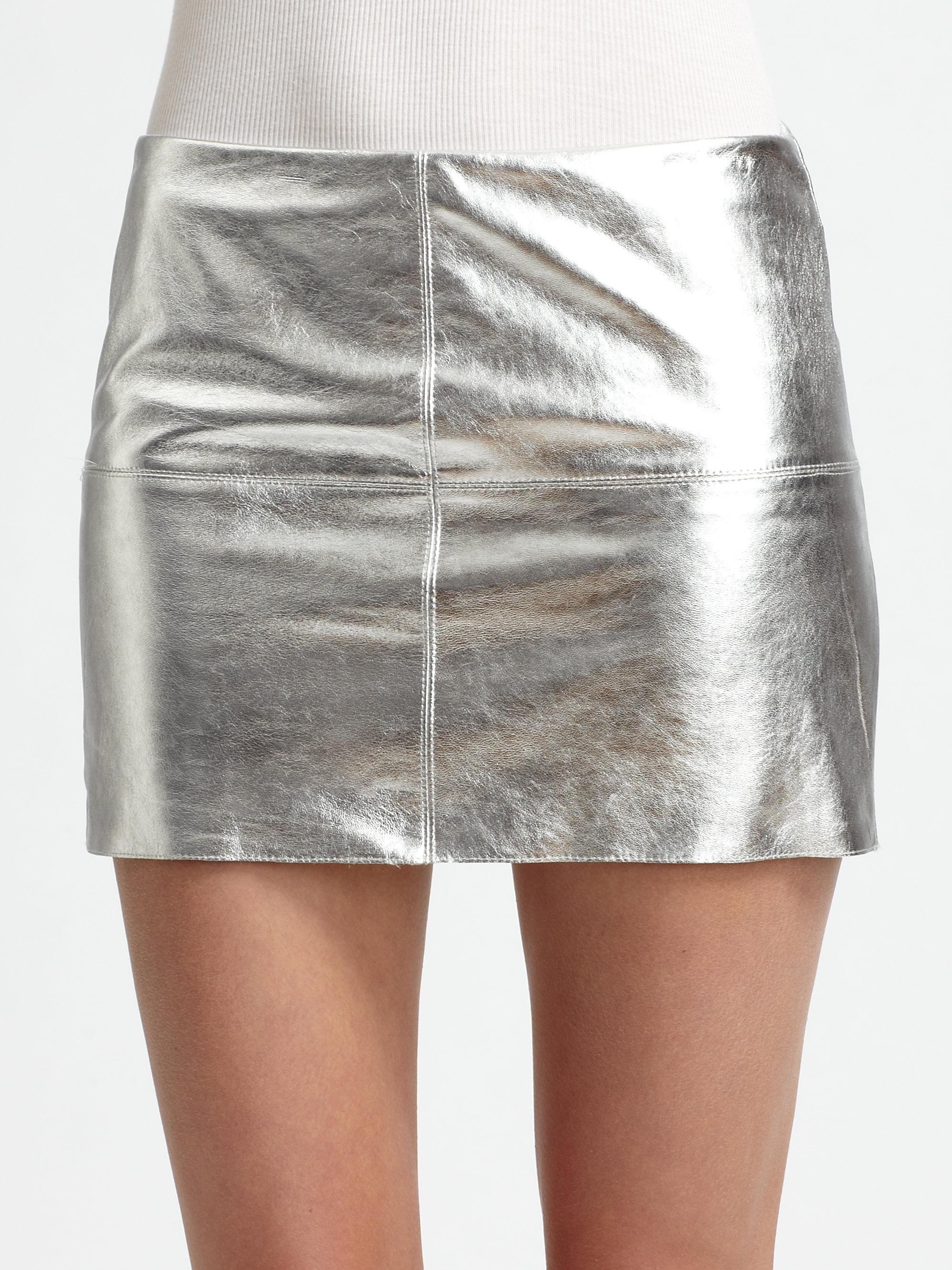 Bailey 44 Turtle Metallic Leather Mini Skirt in Metallic   Lyst
