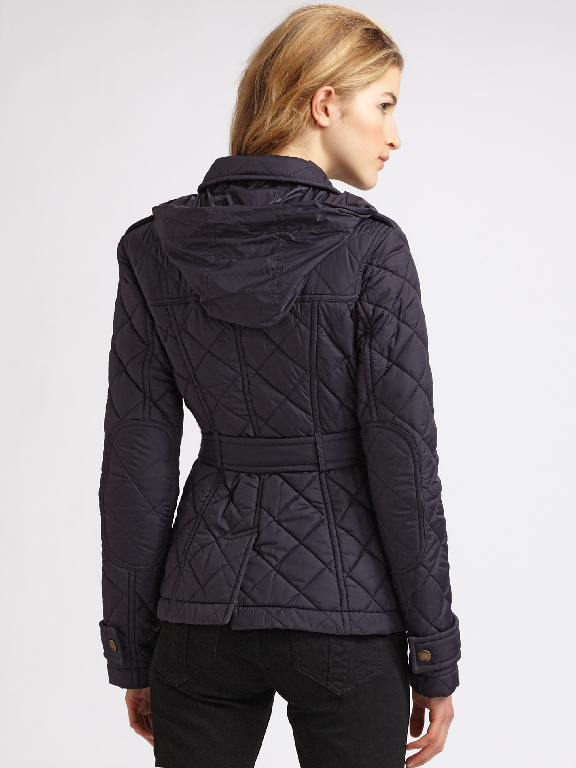 Burberry brit Lightweight Quilted Jacket in Blue | Lyst : lightweight quilted coat - Adamdwight.com