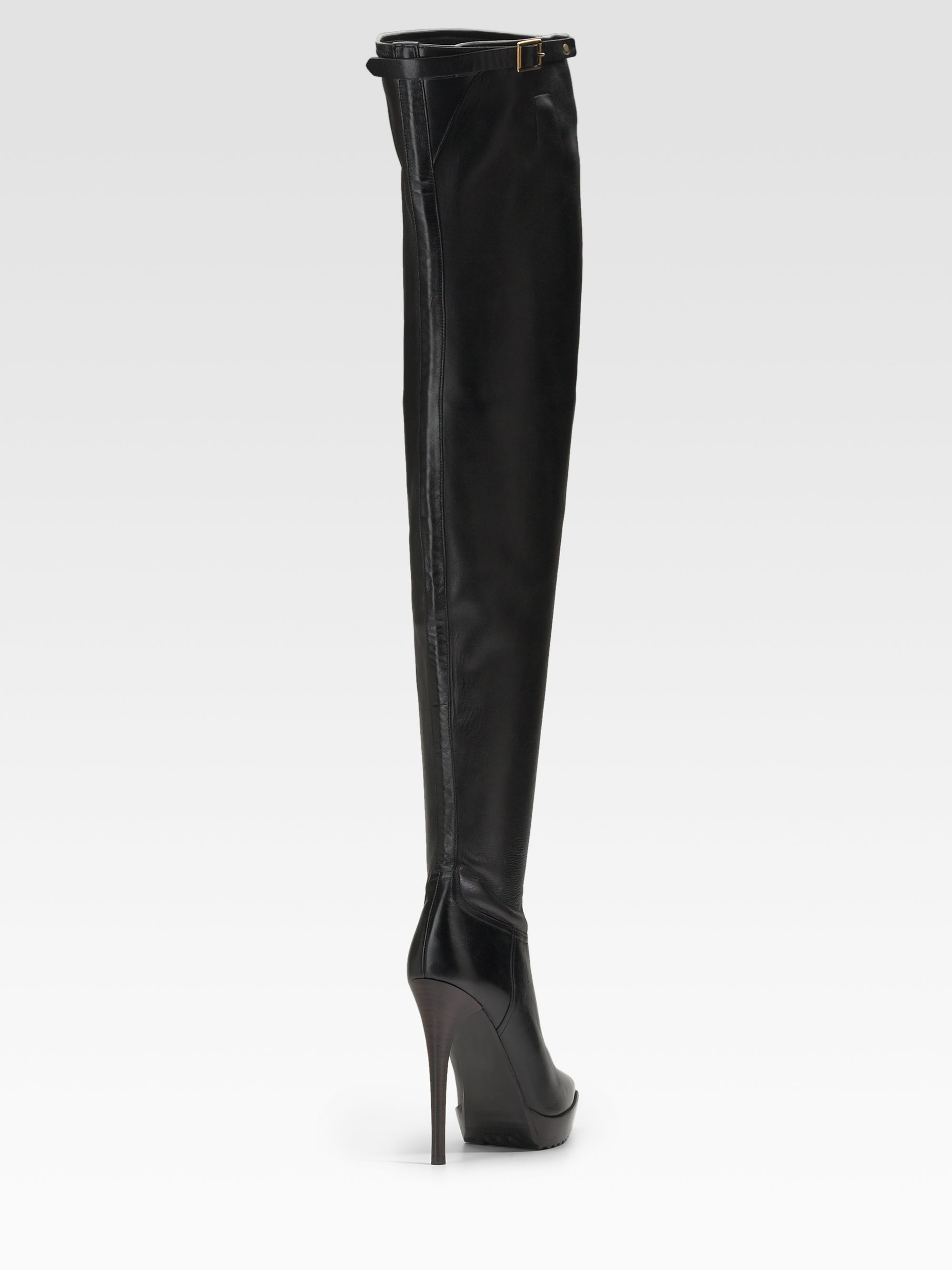 155db9bb97d Lyst - Burberry Prorsum Pointy Toe Thigh-high Boots in Black
