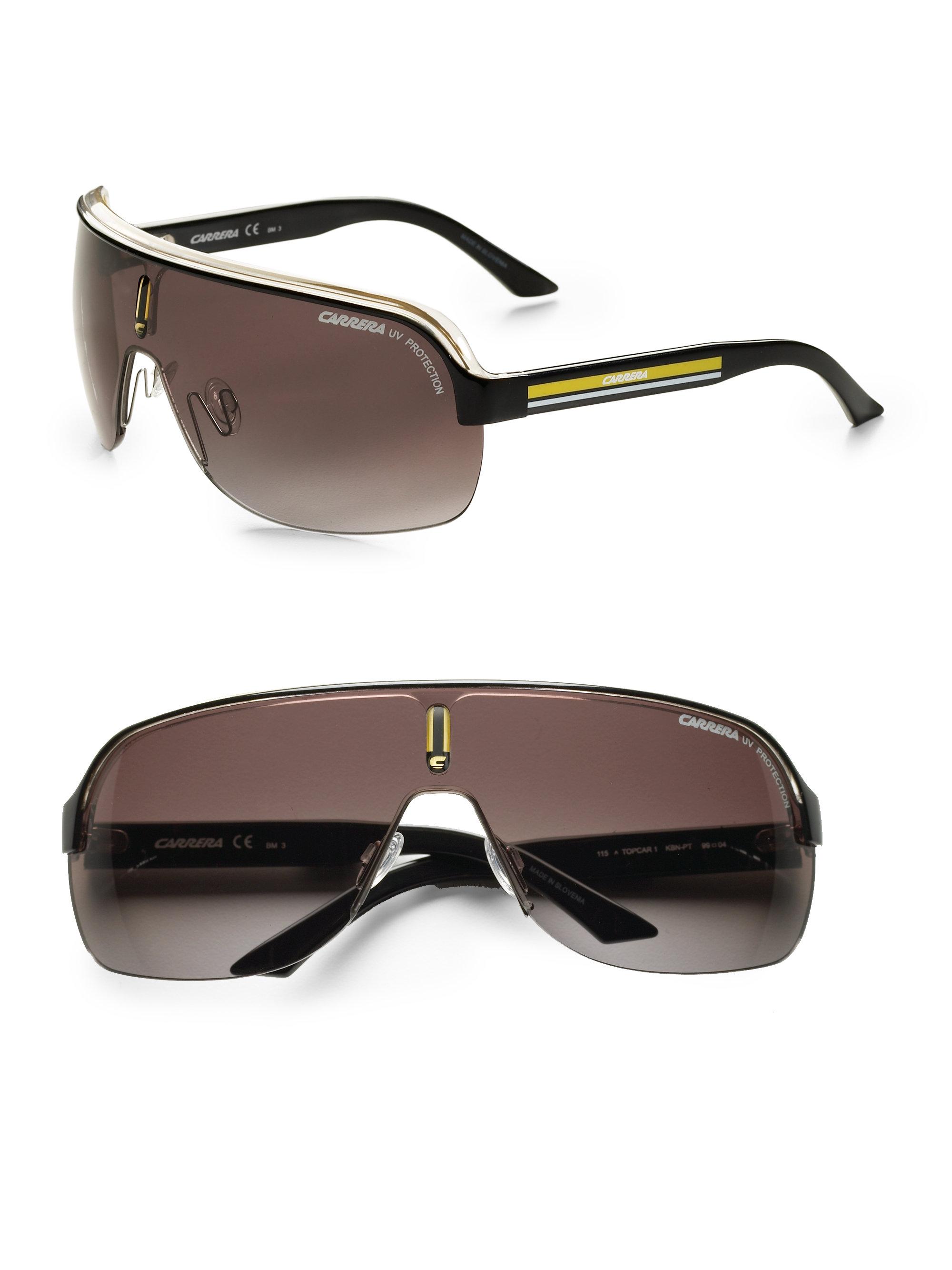 Lyst - Carrera Topcar Shield Sunglasses in Brown for Men e18356e484