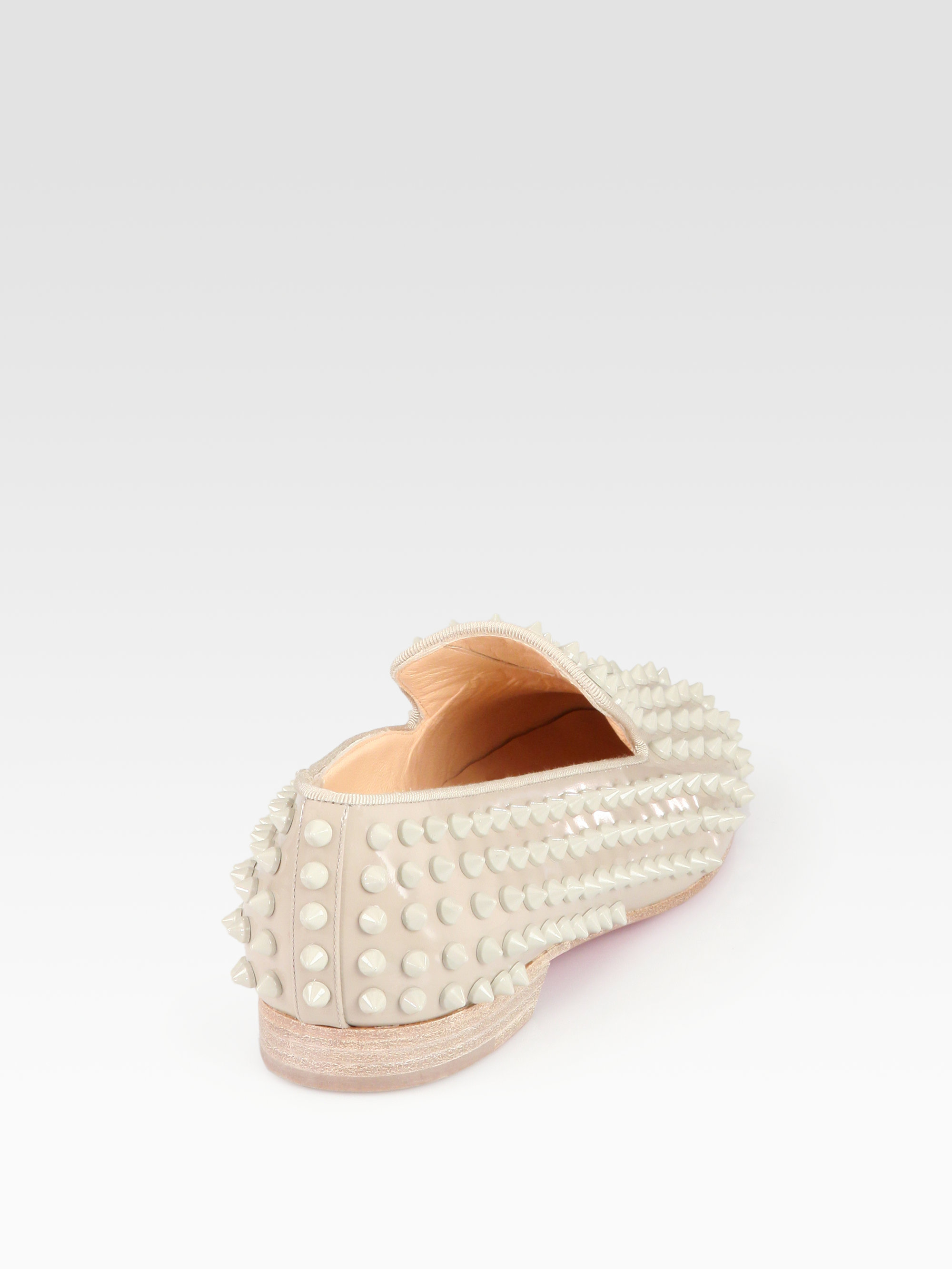 christian louboutin mens spiked loafers - christian louboutin slide sandals Beige leather | cosmetics ...