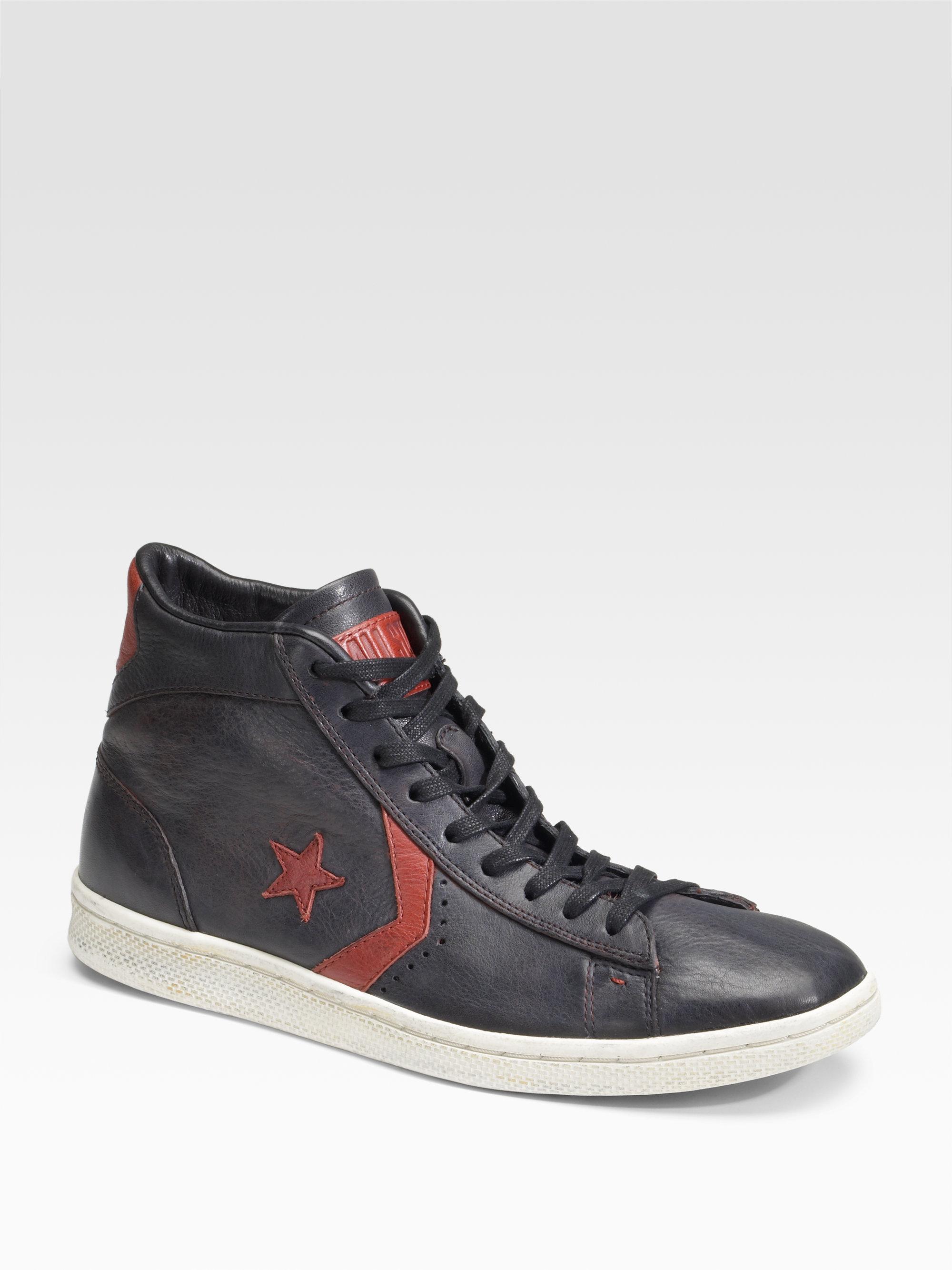 ... italy lyst converse john varvatos star player midtop sneakersblack in  c01e9 d490e 042c03c68