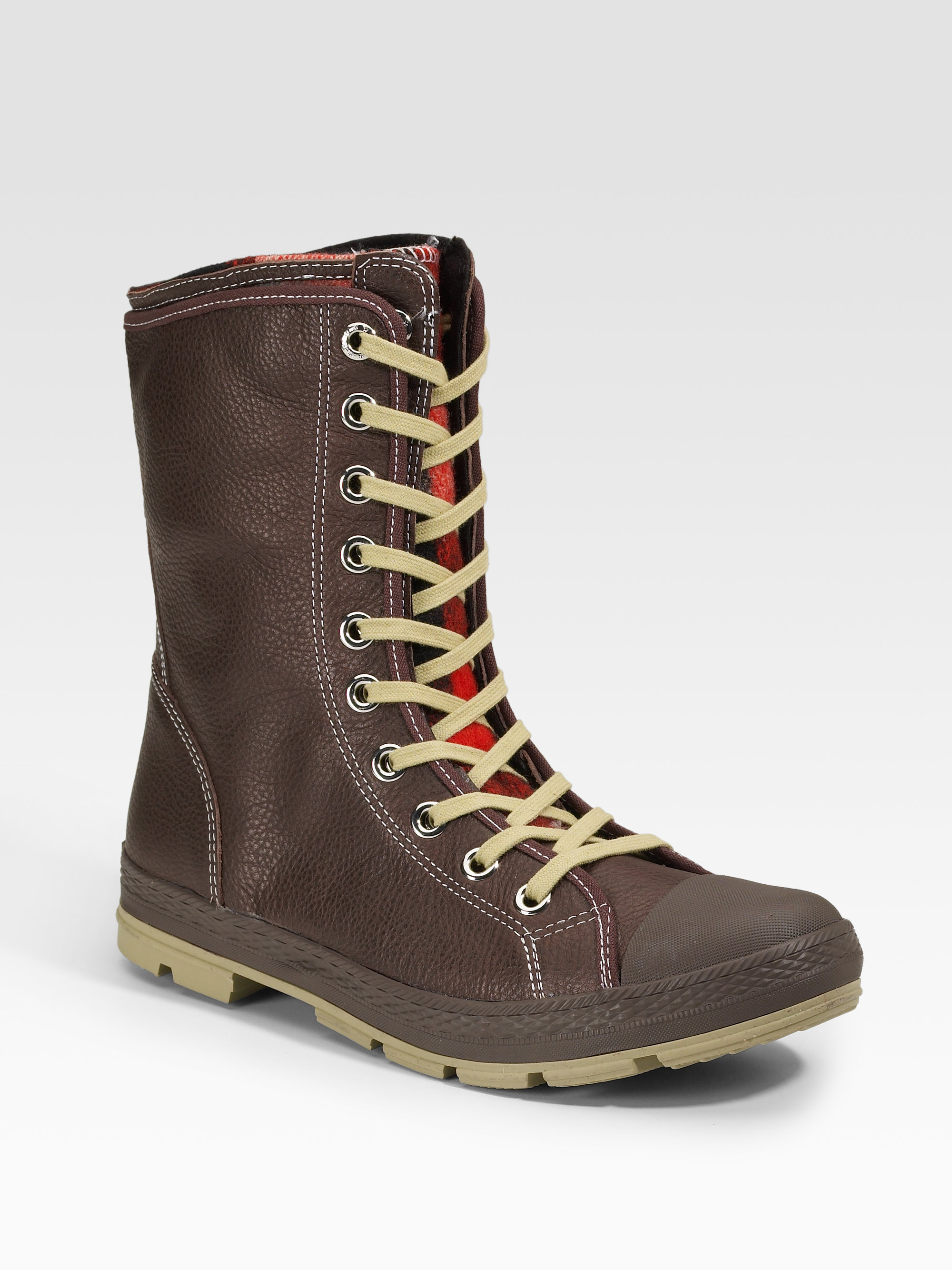 6eb03638d3a15b Lyst - Converse Chuck Taylor Woolrich Outsider Boots extra-high in ...