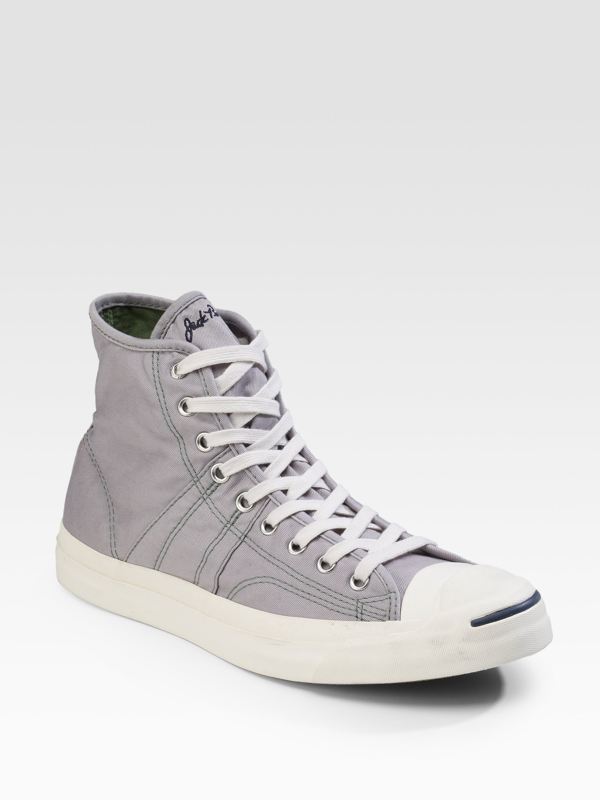 68aa388ca4f Lyst - Converse Jack Purcell Johnny High-tops in Gray for Men