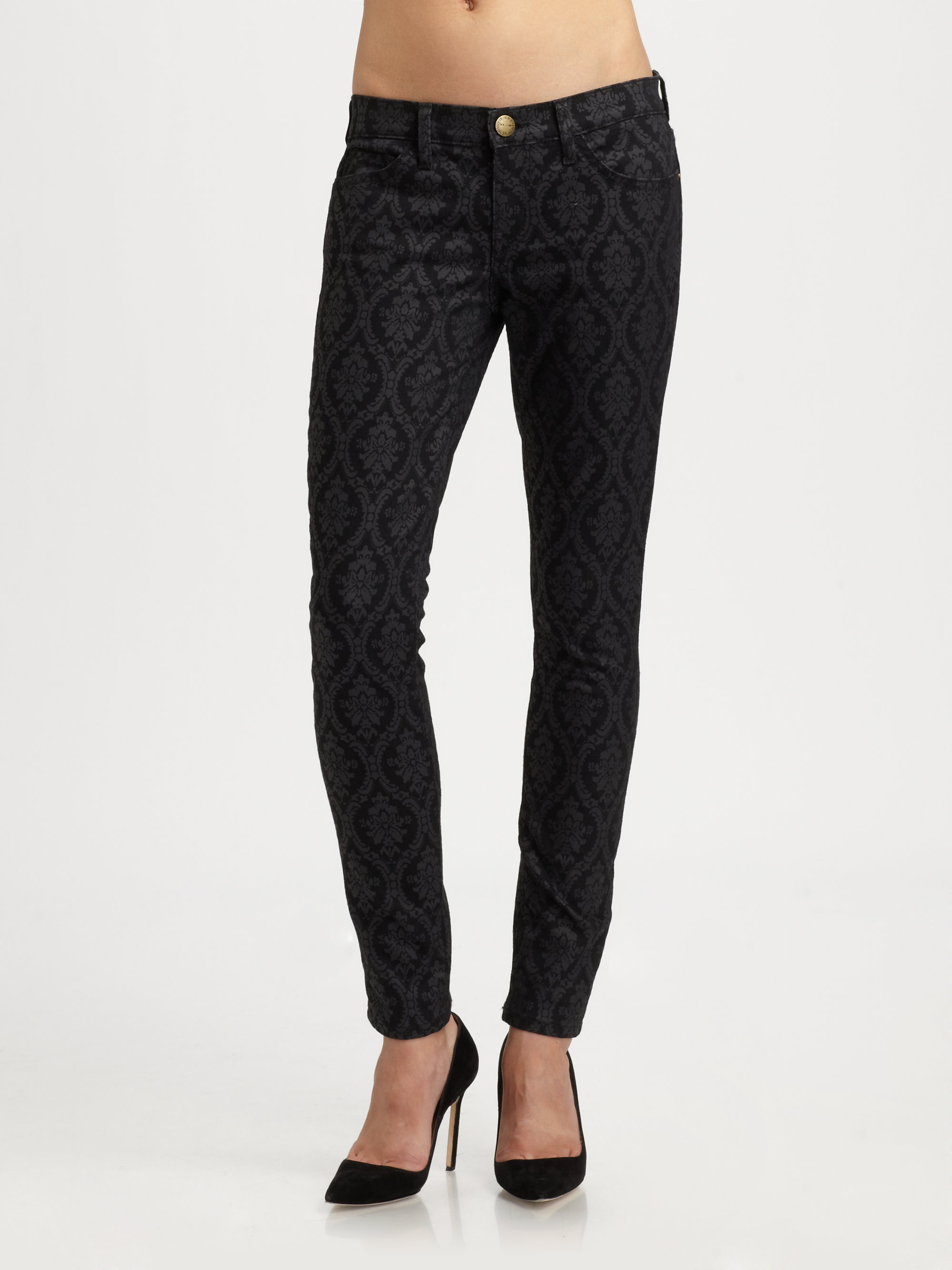 black printed jeans - Jean Yu Beauty