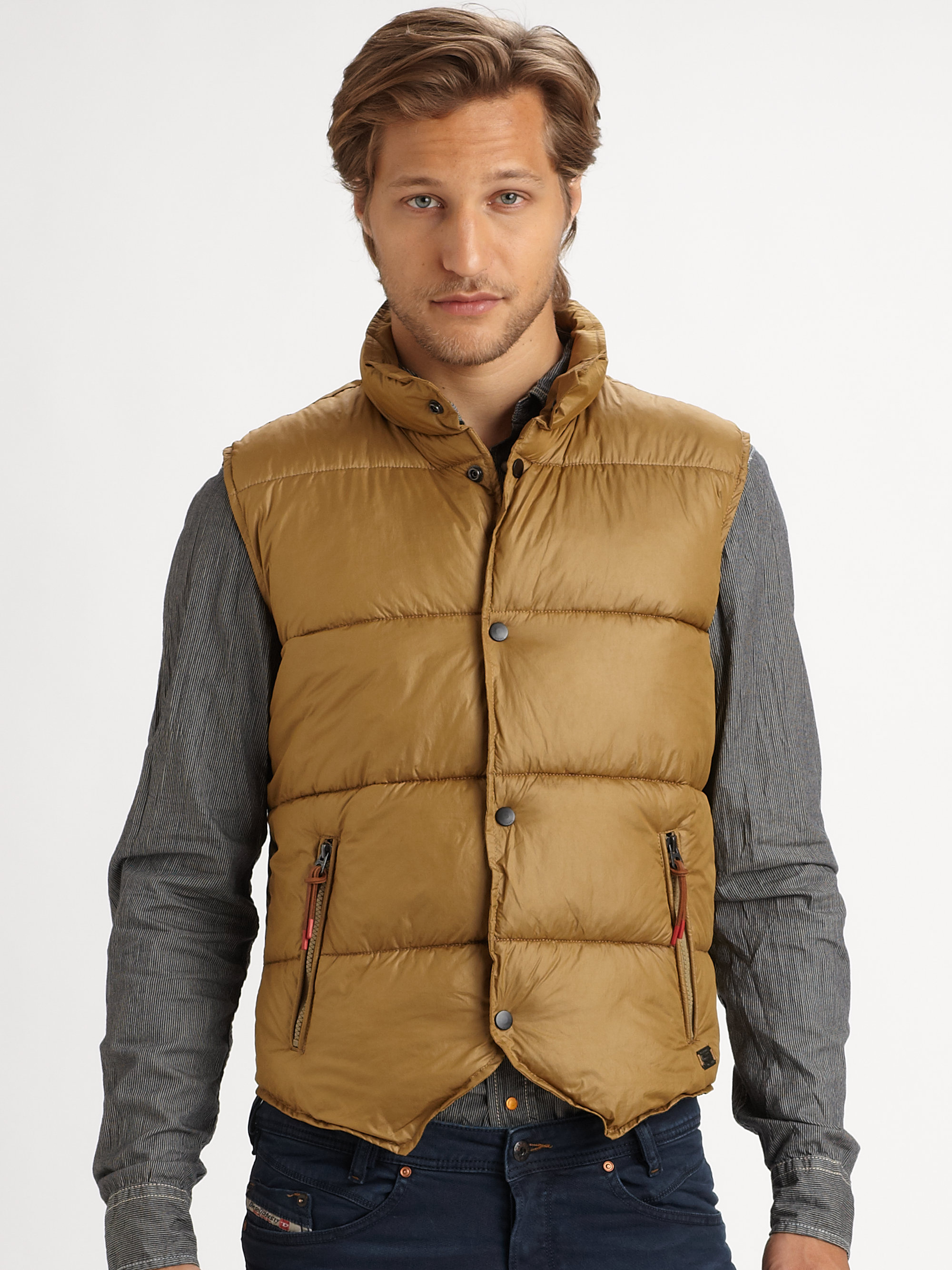 Find and save ideas about Mens puffer vest on Pinterest. | See more ideas about Men's autumn fashion vests, Men's fashion winter vest and Men's casual fall outfits.