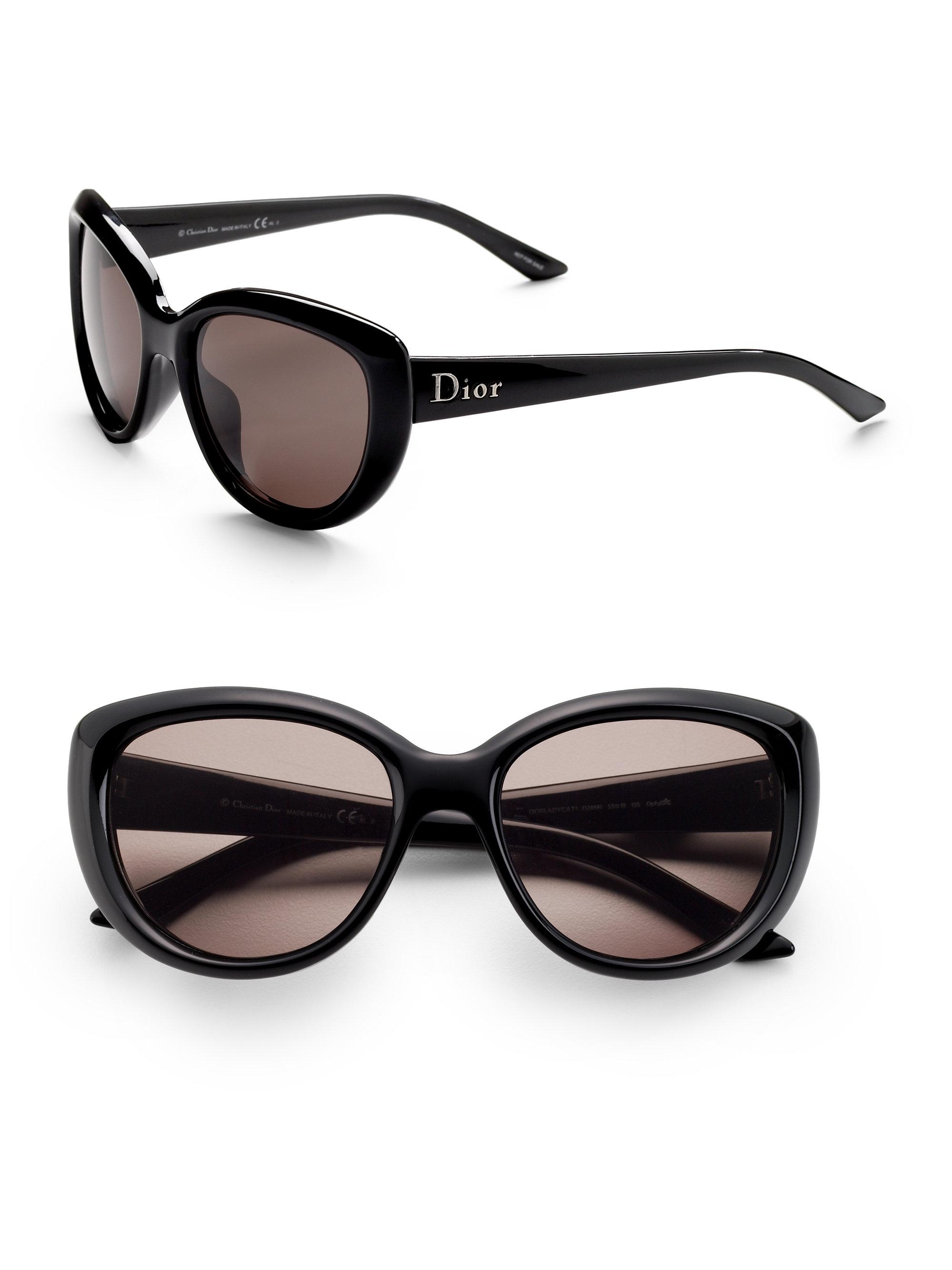 f91e8f9d64 Dior Lady Cat Sunglasses in Black - Lyst