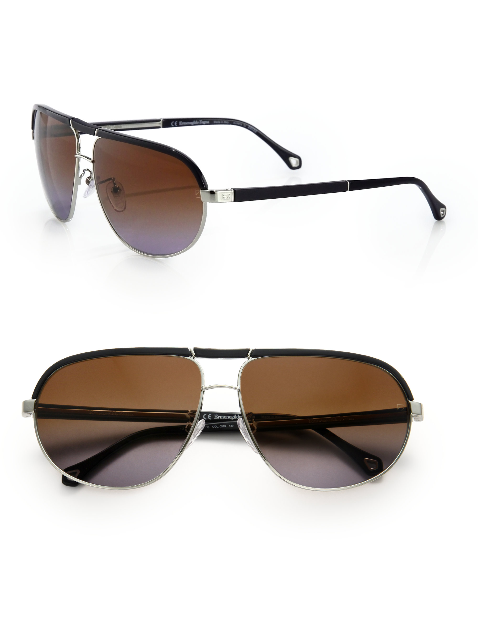 a1eb6d297e Ermenegildo zegna Navigator Sunglasses in Brown for Men