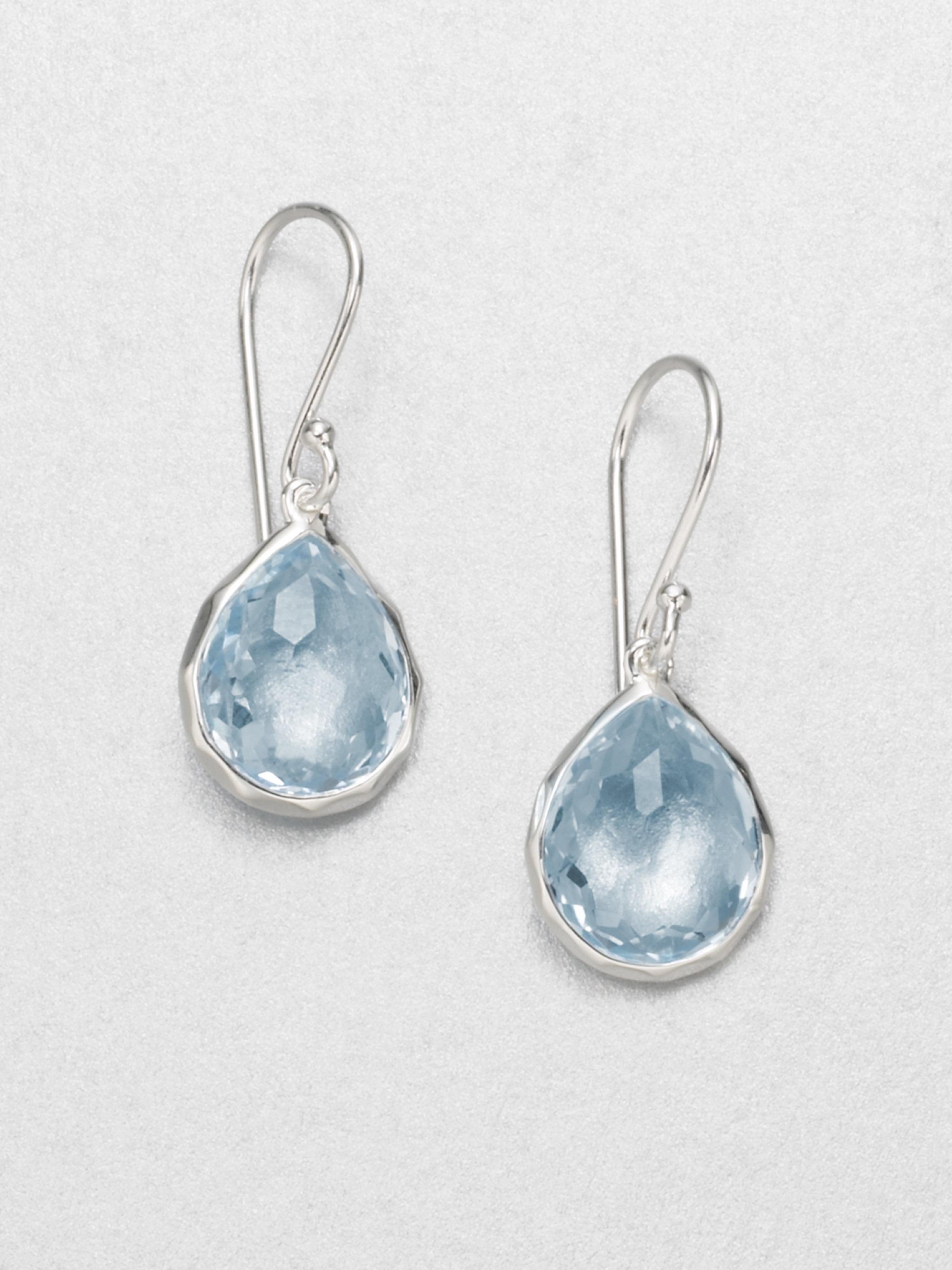 Lyst - Ippolita Blue Topaz Sterling Silver Teardrop Earrings in Blue 811644d573