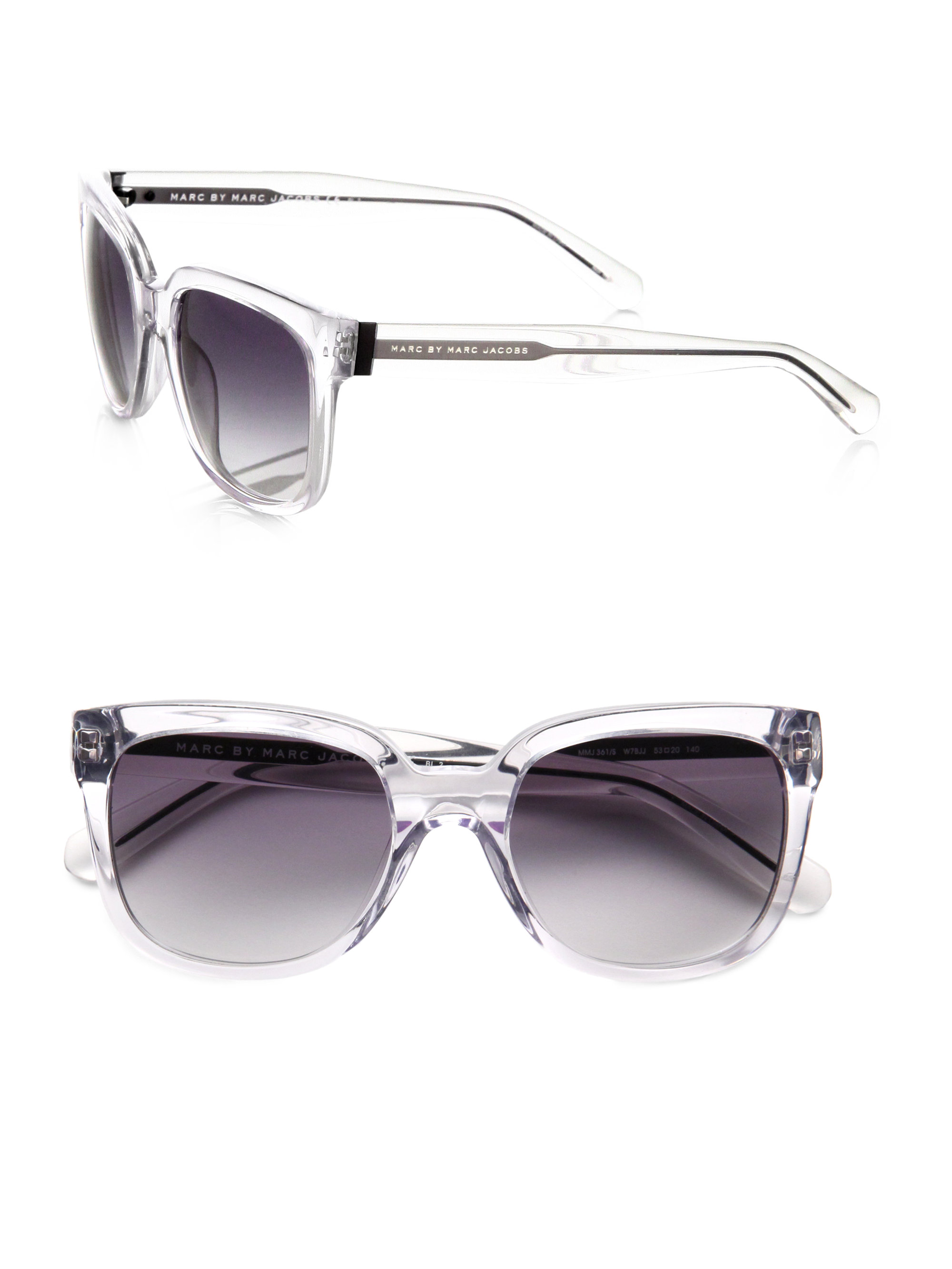 0515cb0dadf Sunglasses Metallic Acetate By Lyst Jacobs Wayfarer Marc In awU0XqH0
