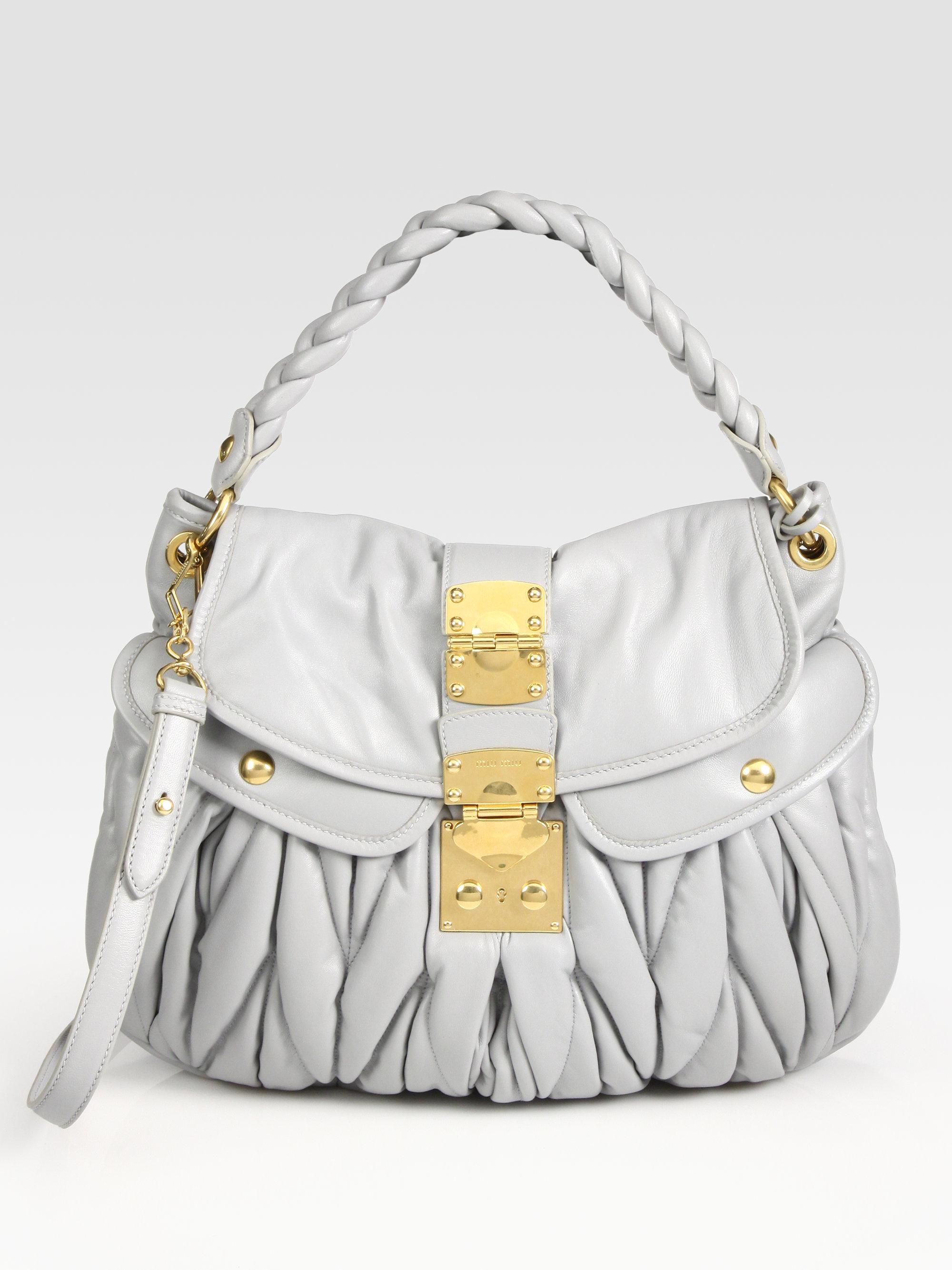 Miu Miu Grey Bag