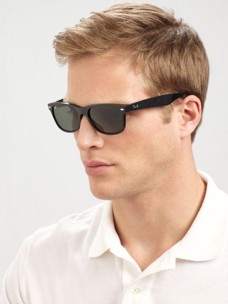 Ray-ban New Wayfarer Sunglasses in Black for Men | Lyst
