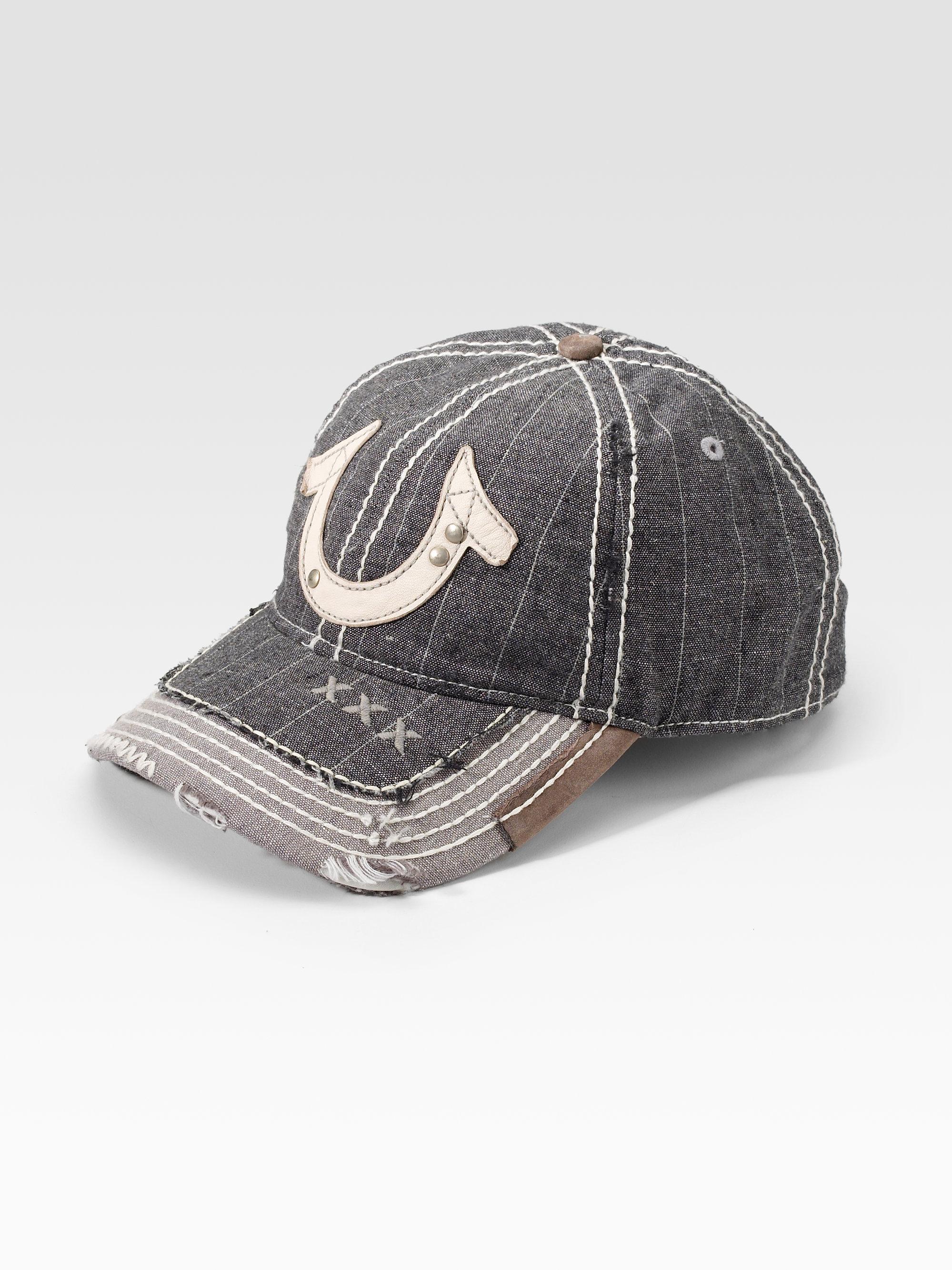 19131f871b3e89 True Religion Pinstripe Horseshoe Hat in Gray for Men - Lyst