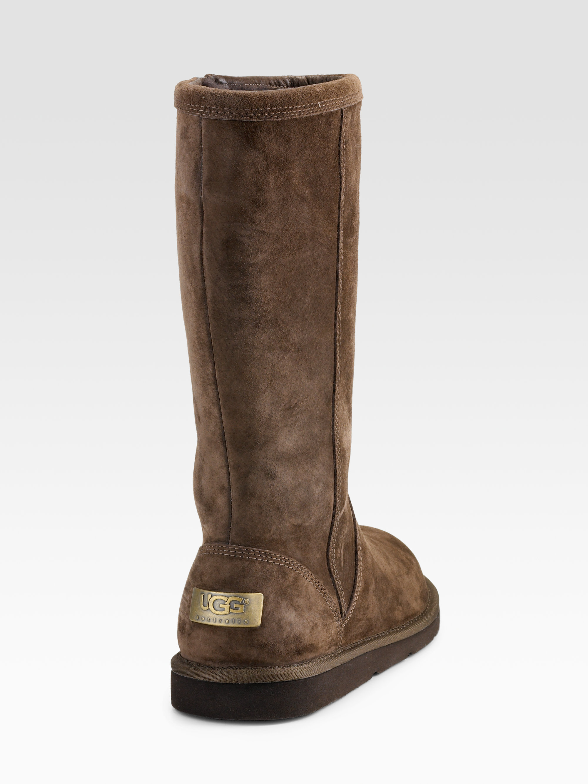 ugg kenly suede boots in brown lyst