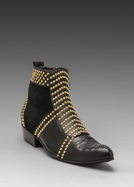 Anine Bing Boots With Studs In Black In Black Lyst