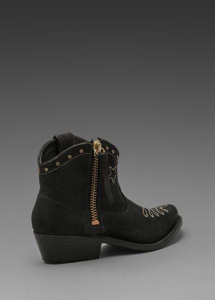 Anine Bing Cowboy Boots In Black In Black Lyst
